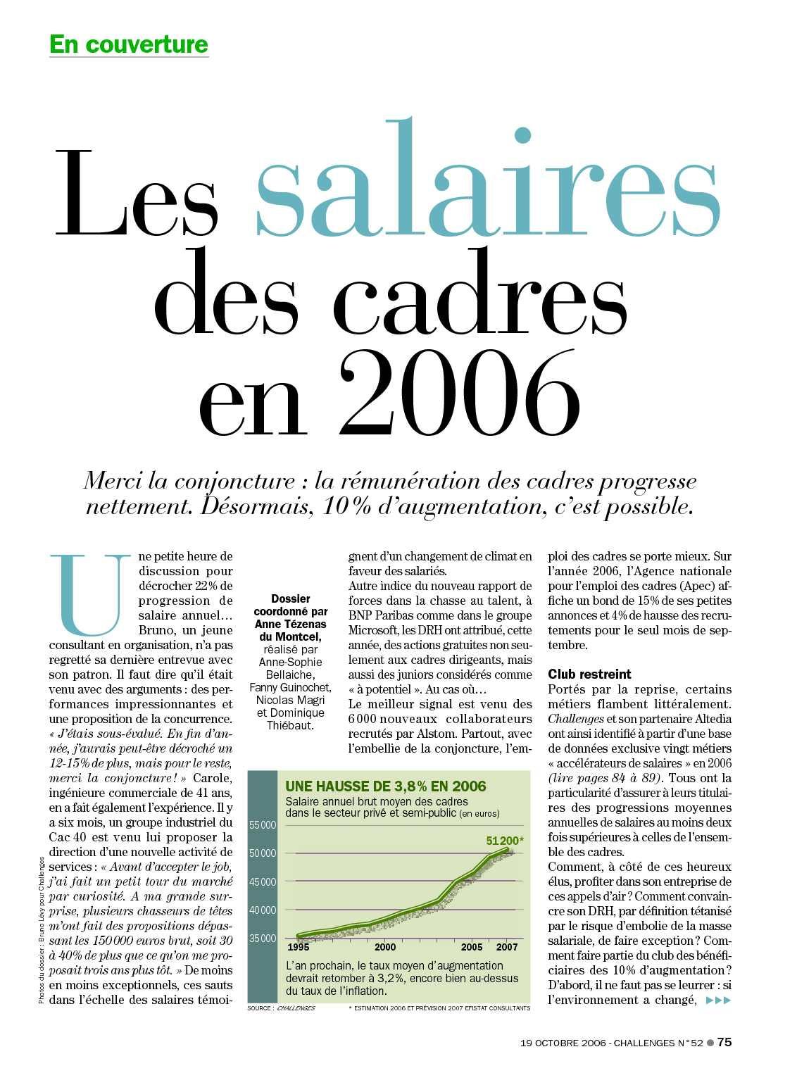 calam 233 o challenges le salaire des cadres