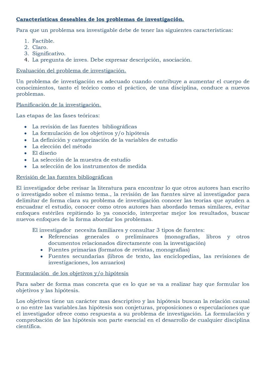 Calaméo - CARACTERÍSTICAS DESEABLES DE LOS PROBLEMAS DE INVESTIGACIÓN