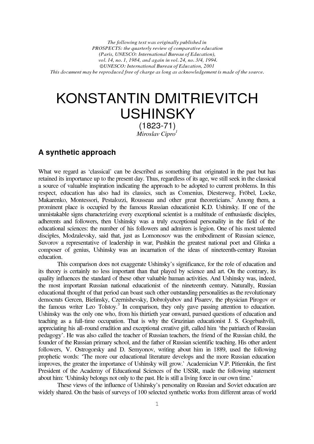 Calaméo - Grands penseurs en éducation- Konstantin Dimitrievitch on