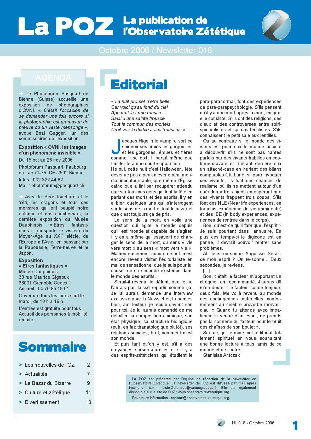 POZ n°18 - octobre 2006