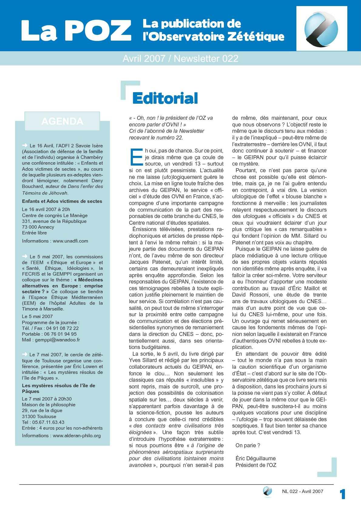 POZ n°22 - avril 2007