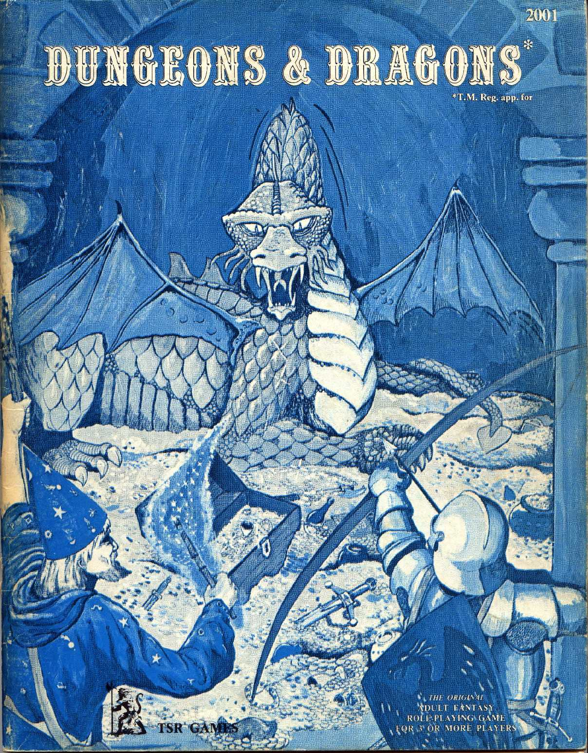 Dungeons and Dragons - Basic Rulebook (first edition by Gary Gigax)