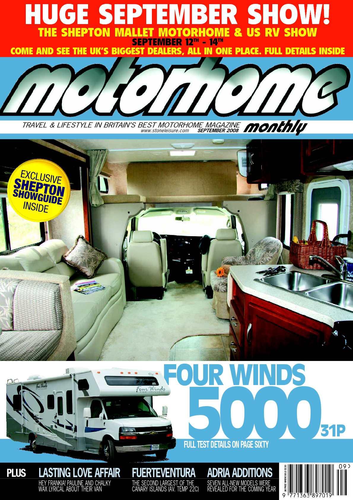 5d8eccf76d Calaméo - September 2008 - Motorhome Monthly Magazine