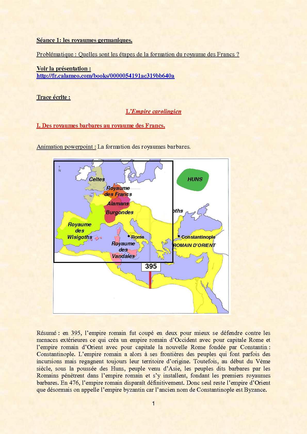 calam u00e9o - 5 u00e8me -l u0026 39 empire carolingien - cours