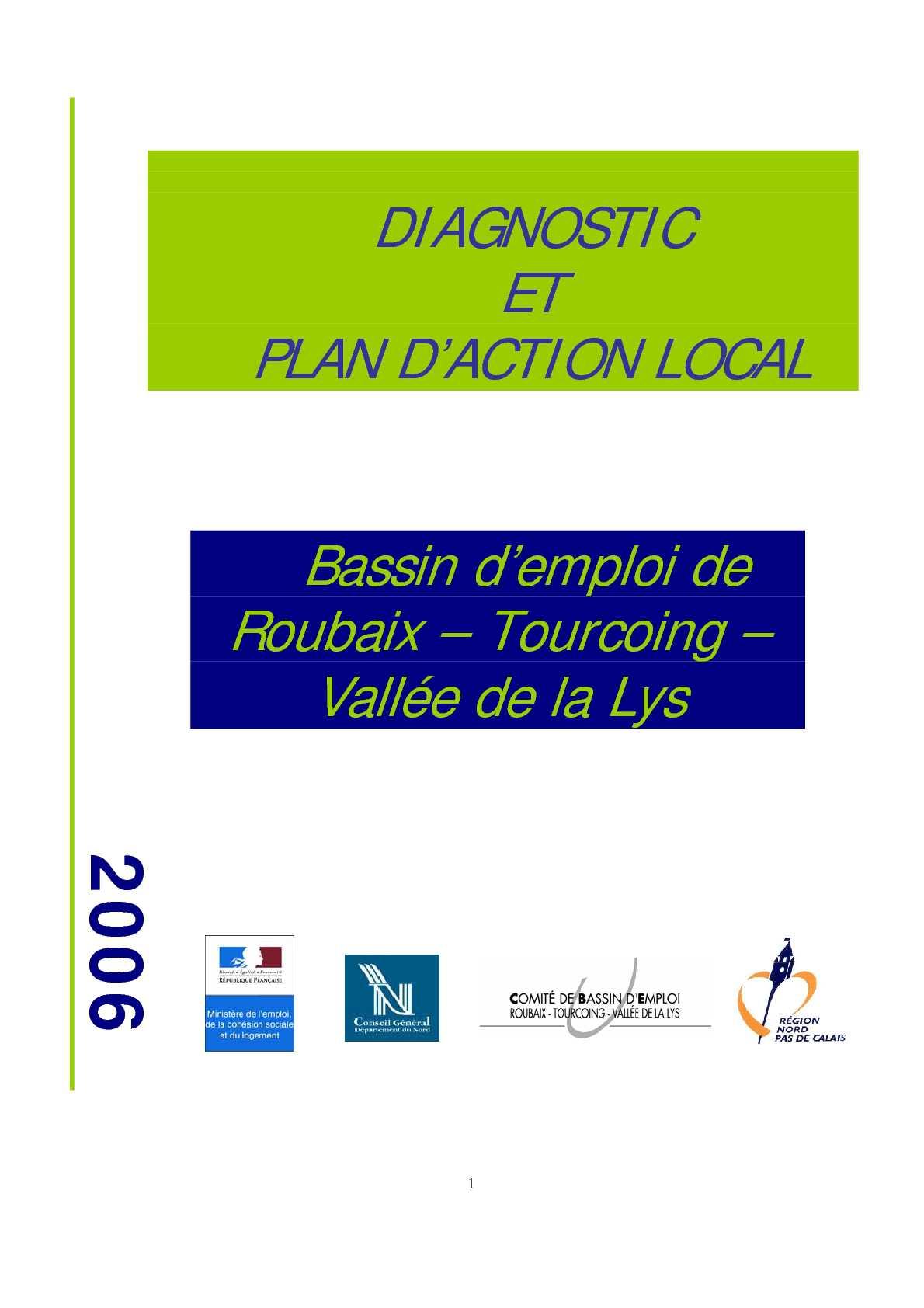 Calam o diagnostic plan d 39 actions local bassin d 39 emloi roubaix tourcoing et vall e de la lys - Terrassement bassin d arcachon tourcoing ...