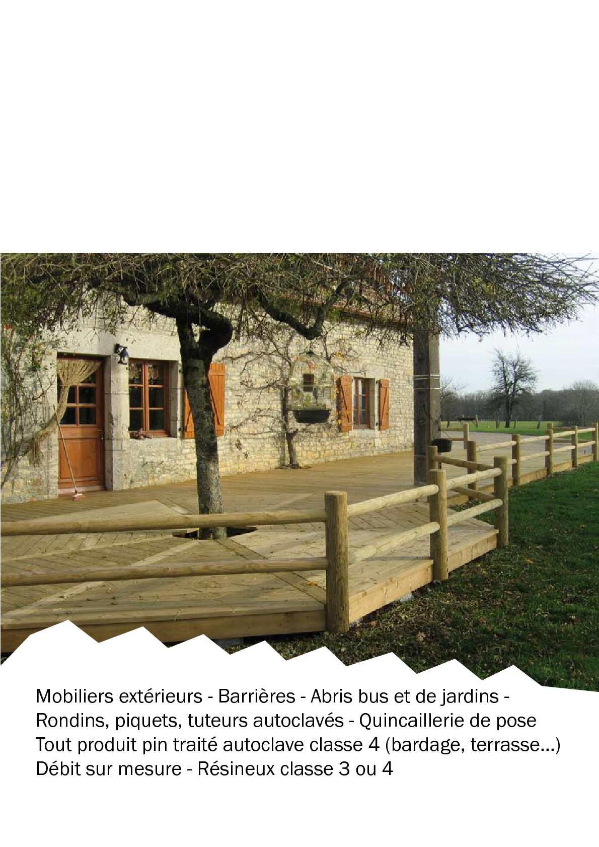 Calam o mobilier ext rieur bois - Bois autoclave classe 4 ...