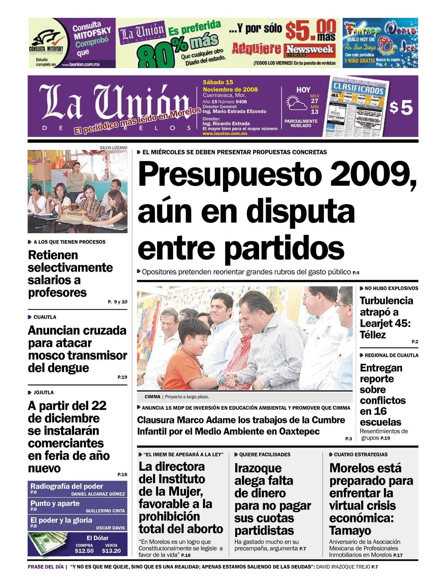 Calaméo - La Unión de Morelos 15 Noviembre 2008