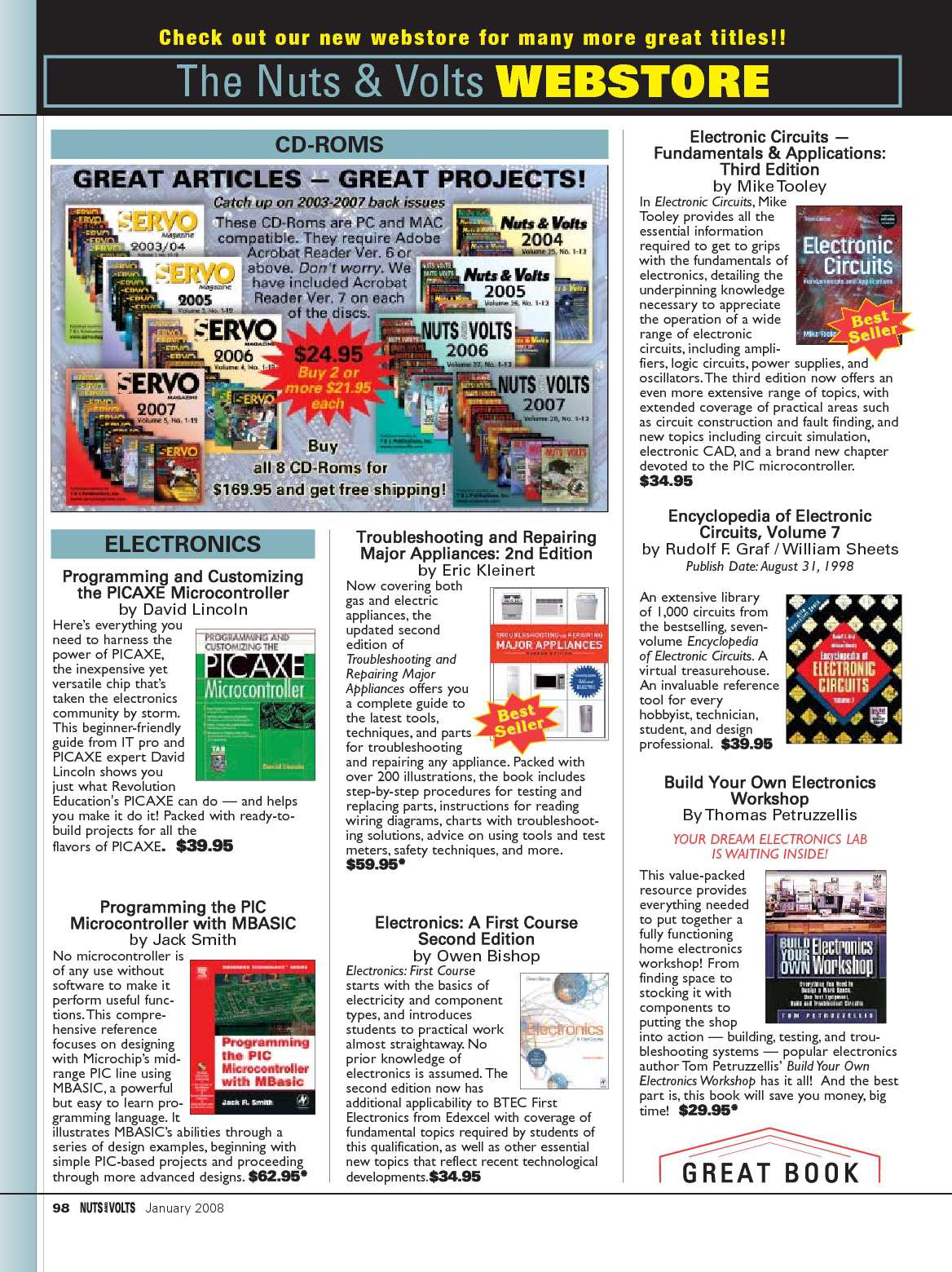 Nuts And Volts 01 2008 Calameo Downloader Build Electronic Circuit Online Page 98