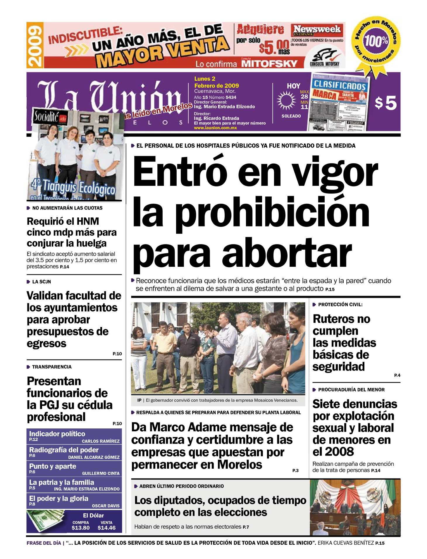 Calaméo - La Unión de Morelos 02 Febrero 2009