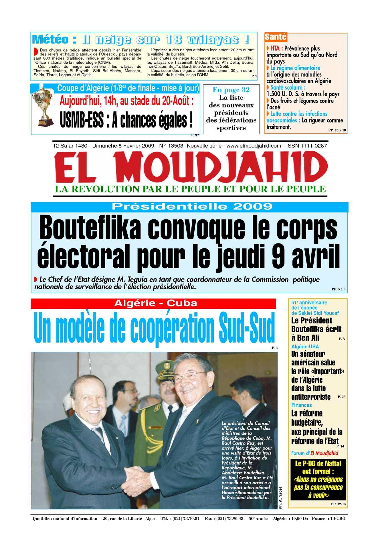 EL Moudjahid_08-02-2009