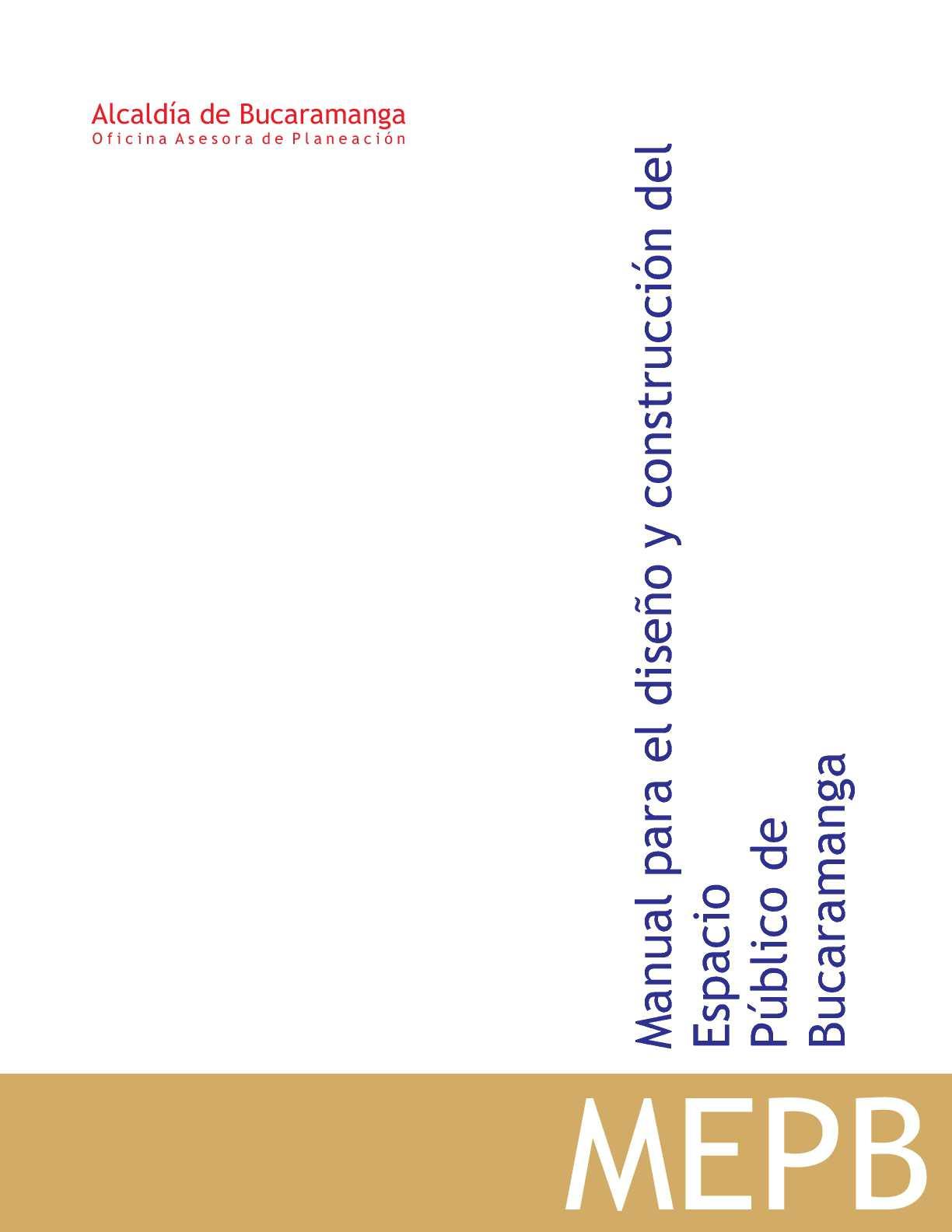 Manual del Espacio Público Bucaramanga