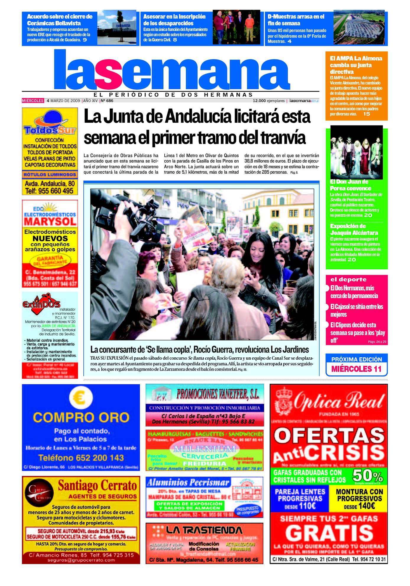 Calaméo - Periódico La Semana de Dos Hermanas nº 686. 4/3/2009