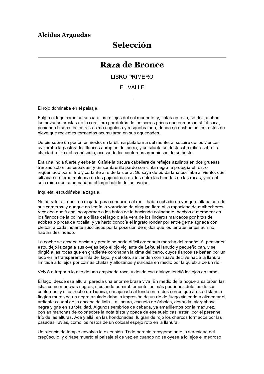 Calaméo - Arguedas, Alcides - Raza de bronce