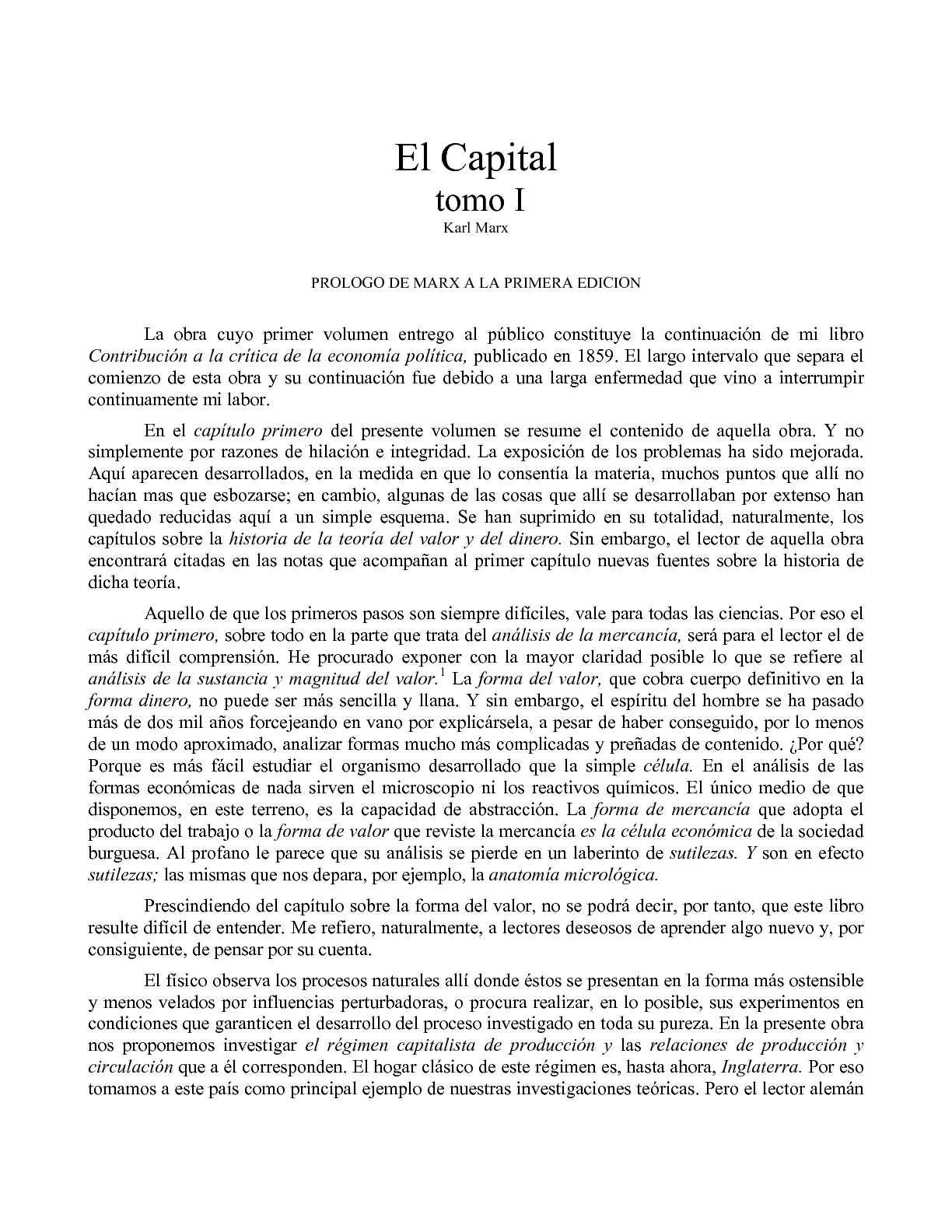 Calaméo - ElCapital1: Carlos Marx