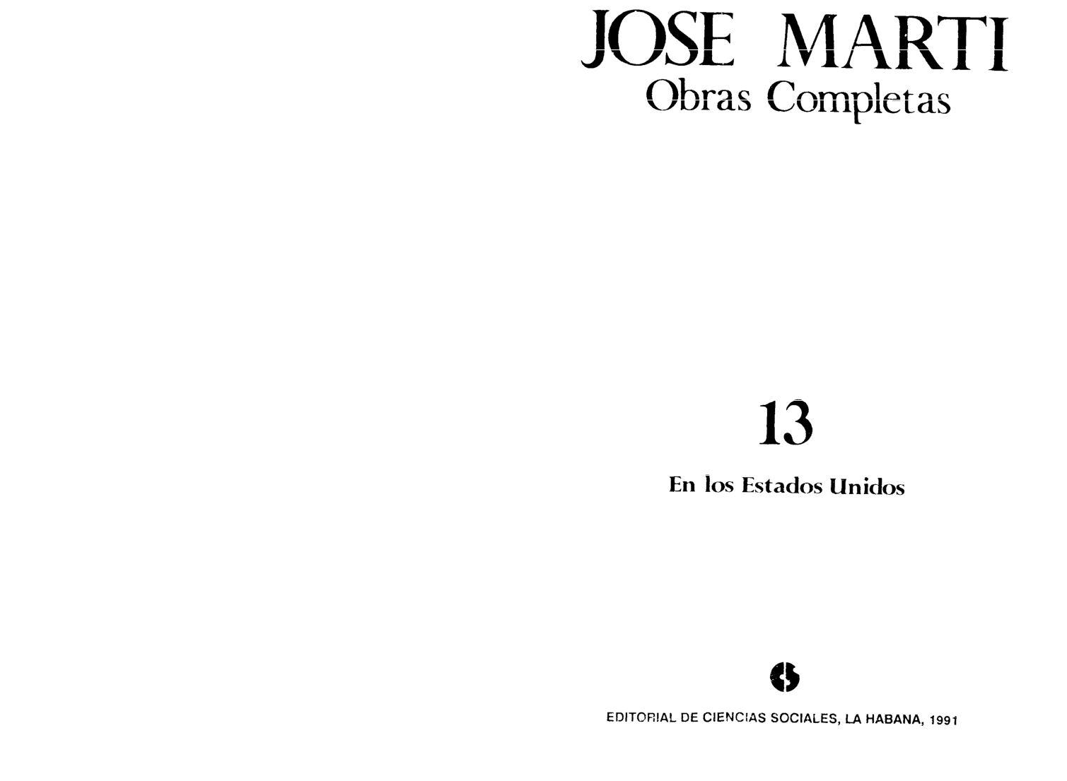 Calaméo - Martí, José - Obras completas Vols. 13-16