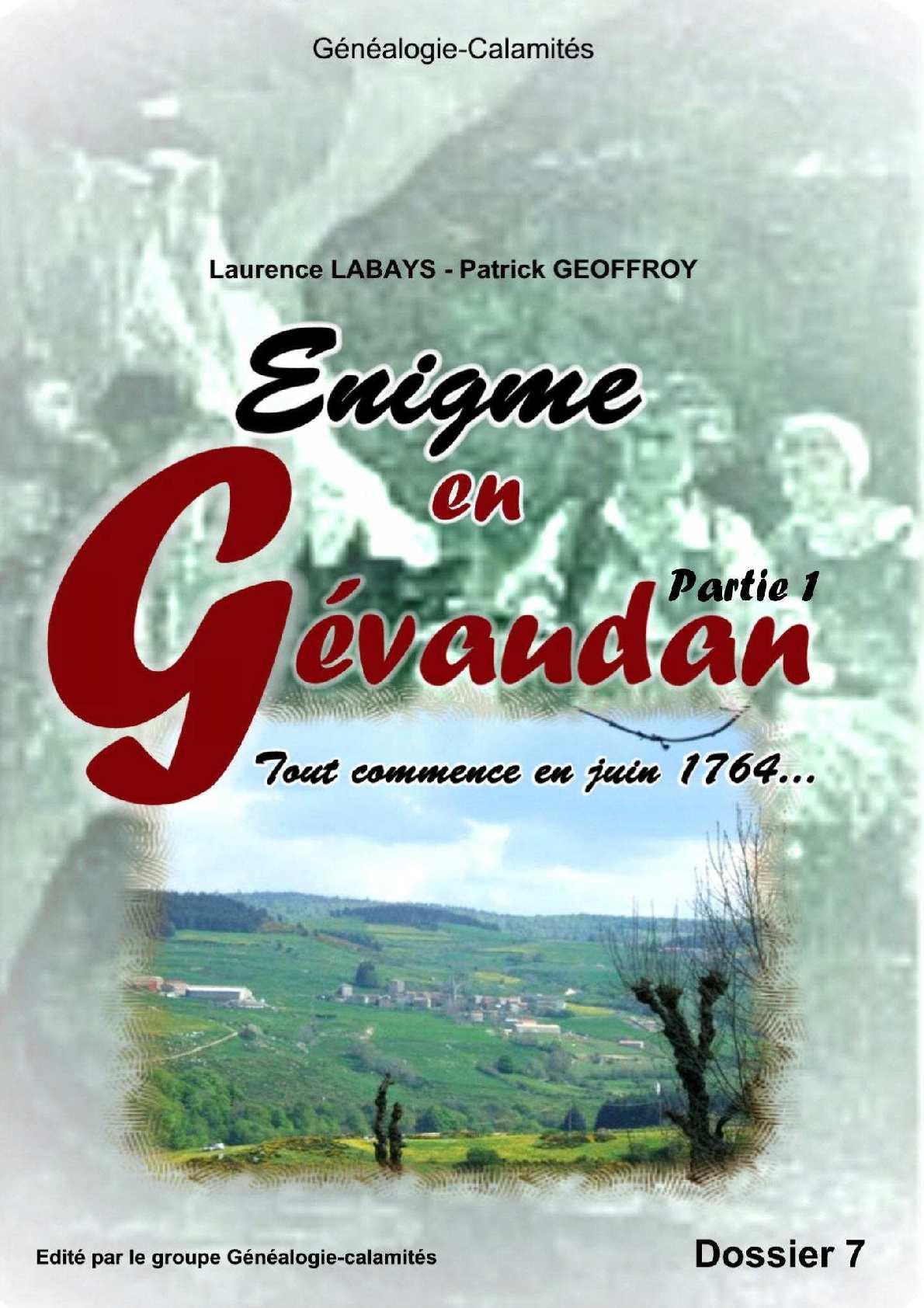 Enigme en Gévaudan en 1764