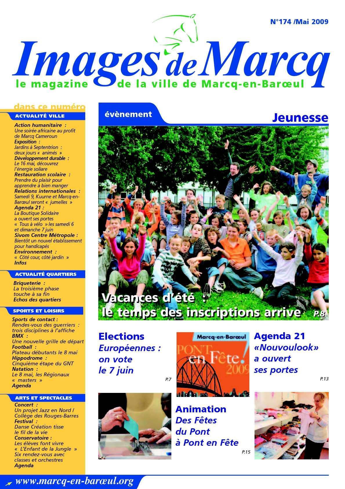Calameo Images De Marcq N 174 Mai 2009 Journal Municipal De La