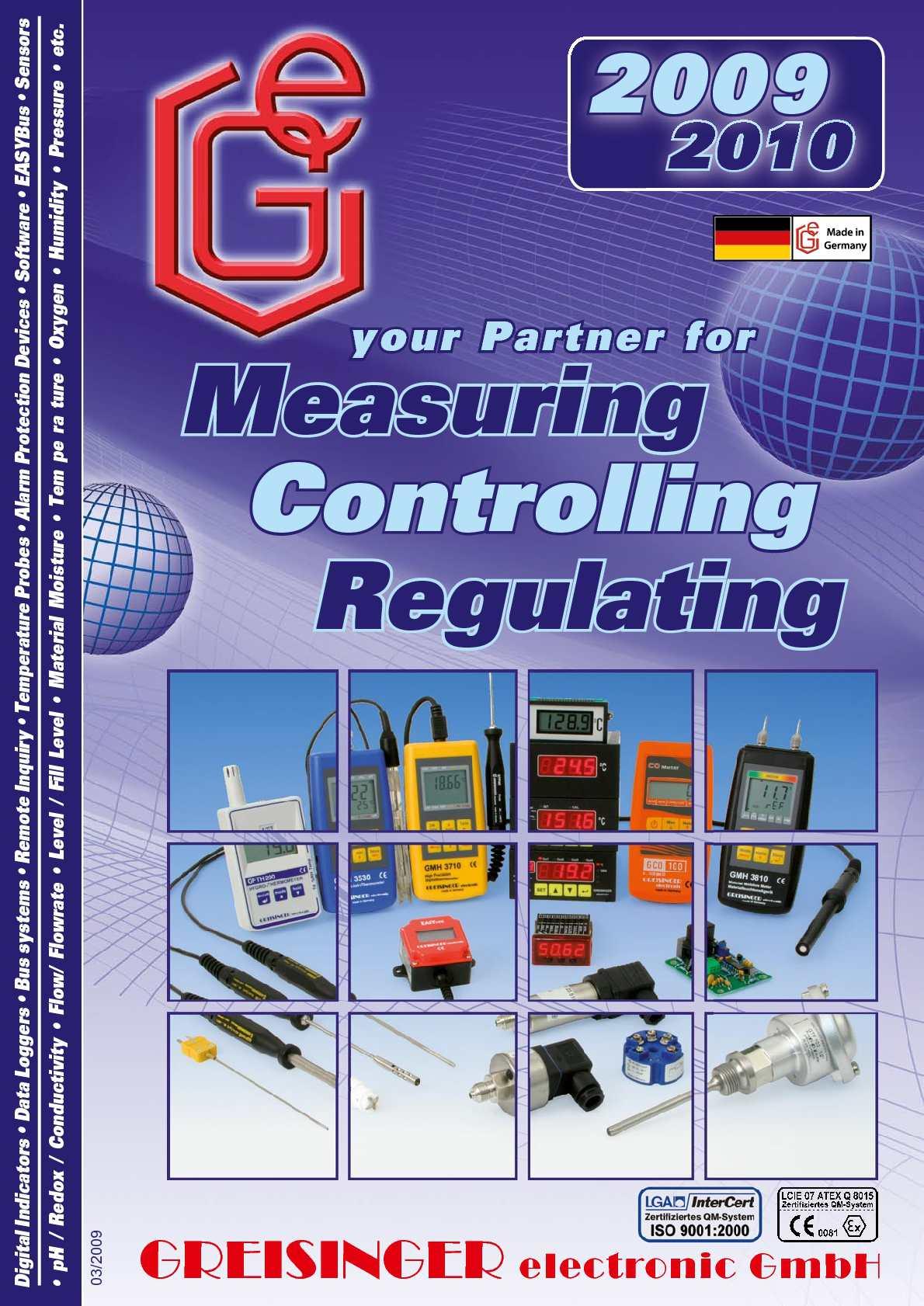 Greisinger Catalogue 2009