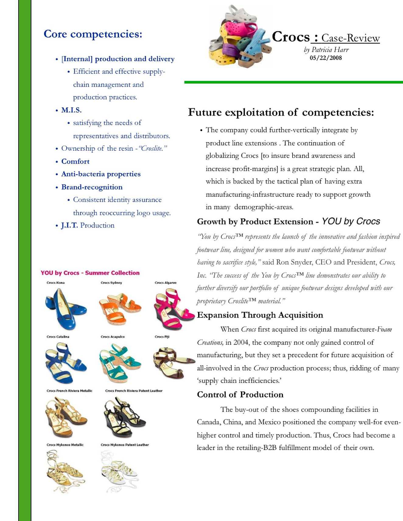 Crocs Inc. Harvard Case Solution & Analysis
