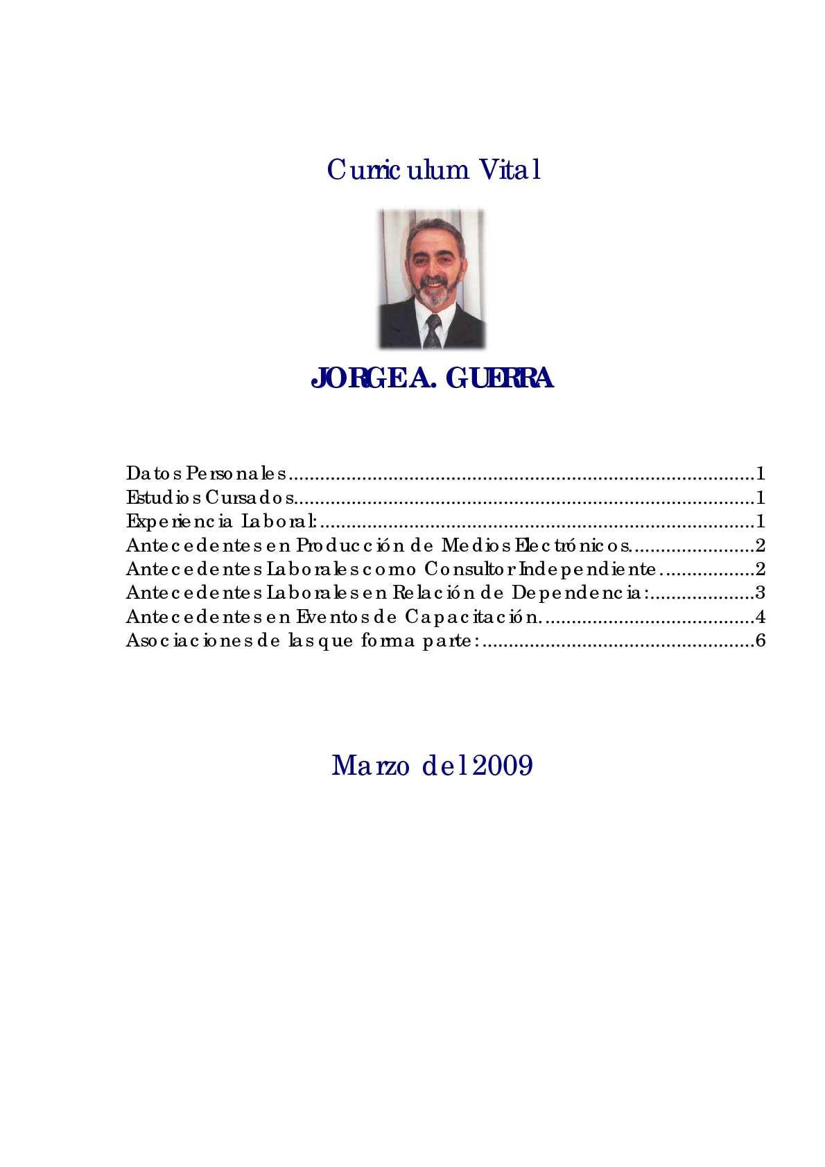 Calaméo - Jorge Armando Guerra - Curriculum Vitae