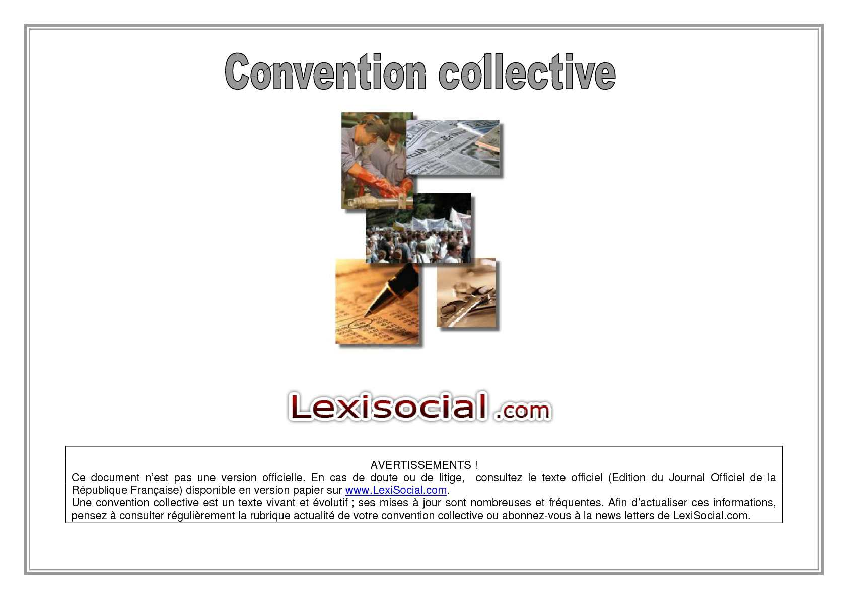 Liste des conventions collectives en France —