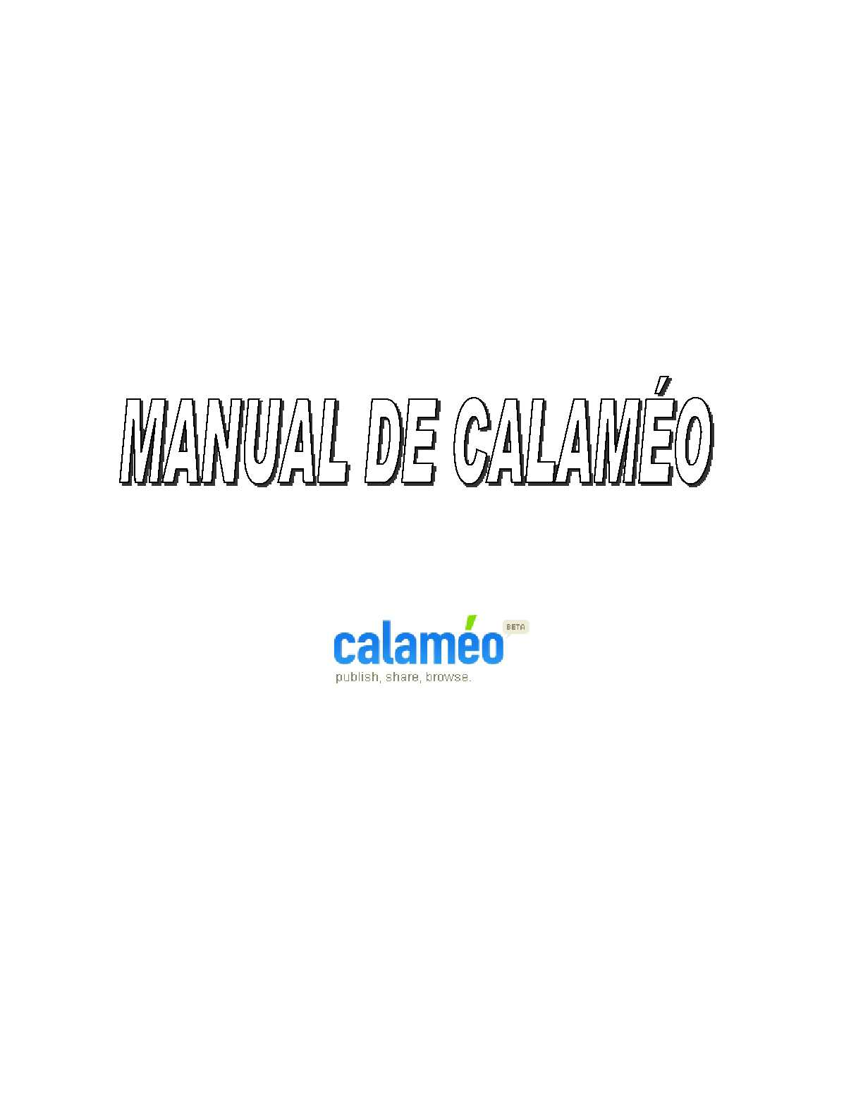 Manual de Calaméo