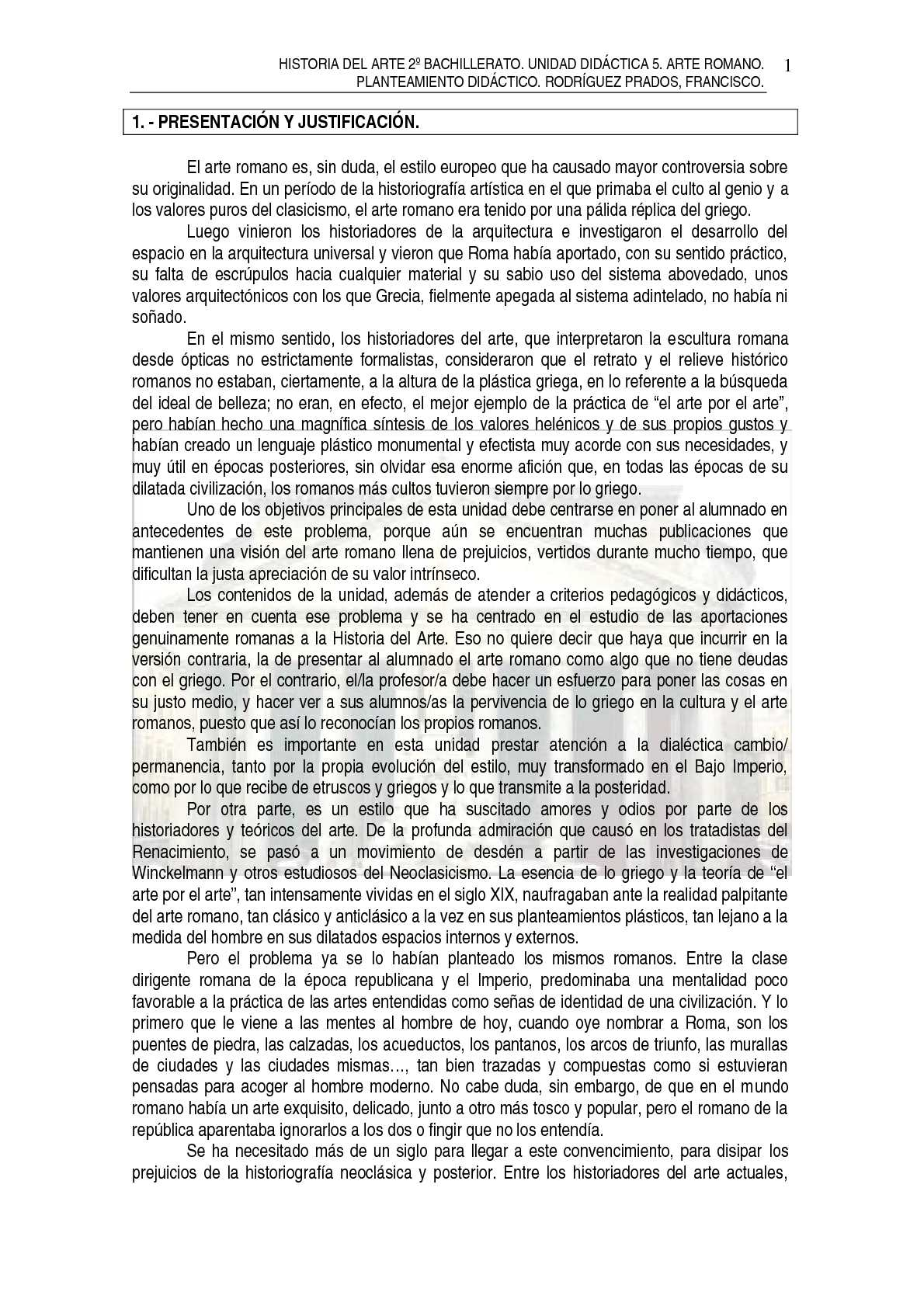 TEMA 5. ARTE ROMANO. COMPLETO