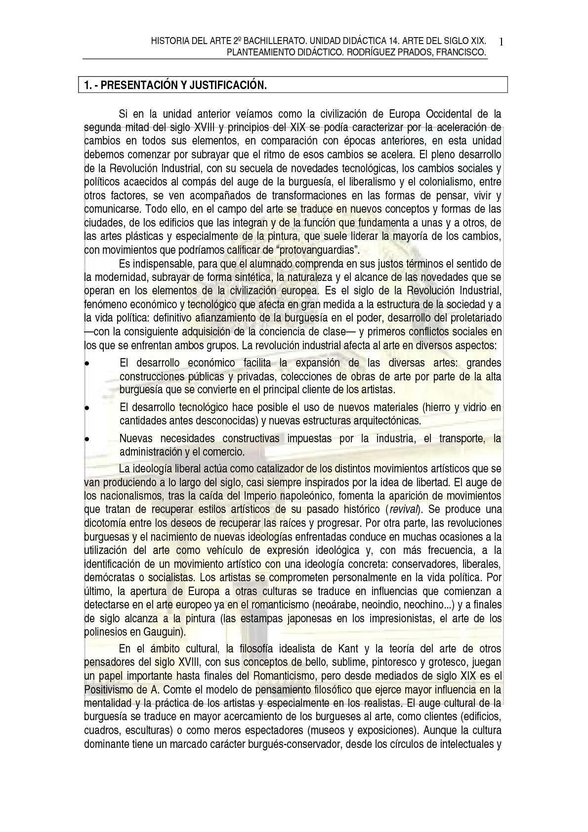 TEMA 14. ARTE SIGLO XIX