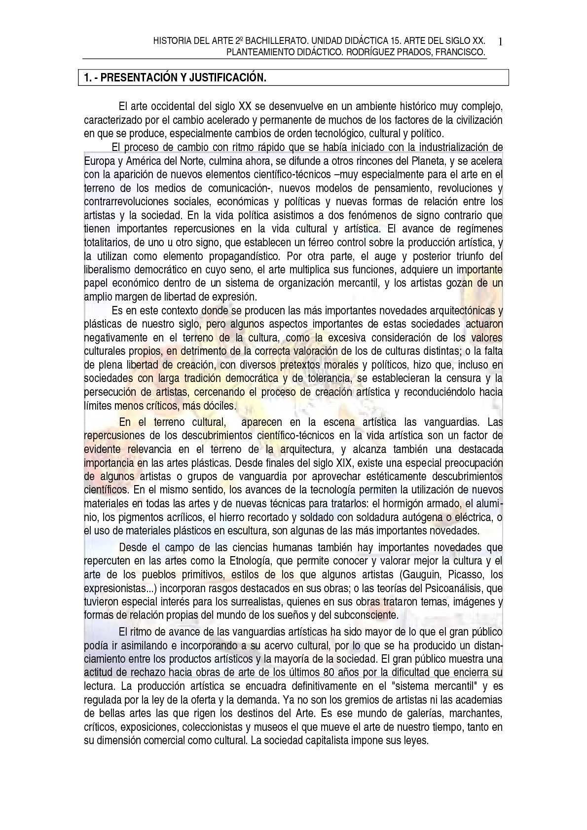 TEMA 15. ARTE SIGLO XX. COMPLETO