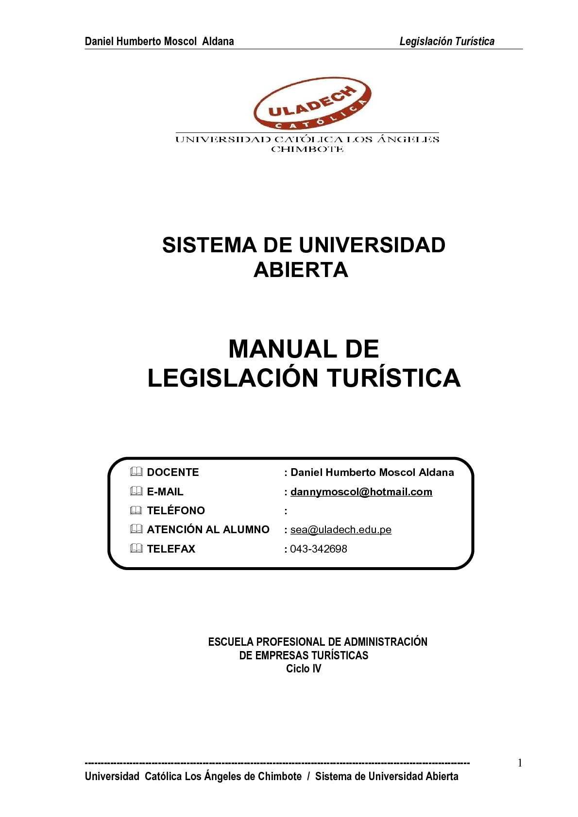Texto de Legislación Turística