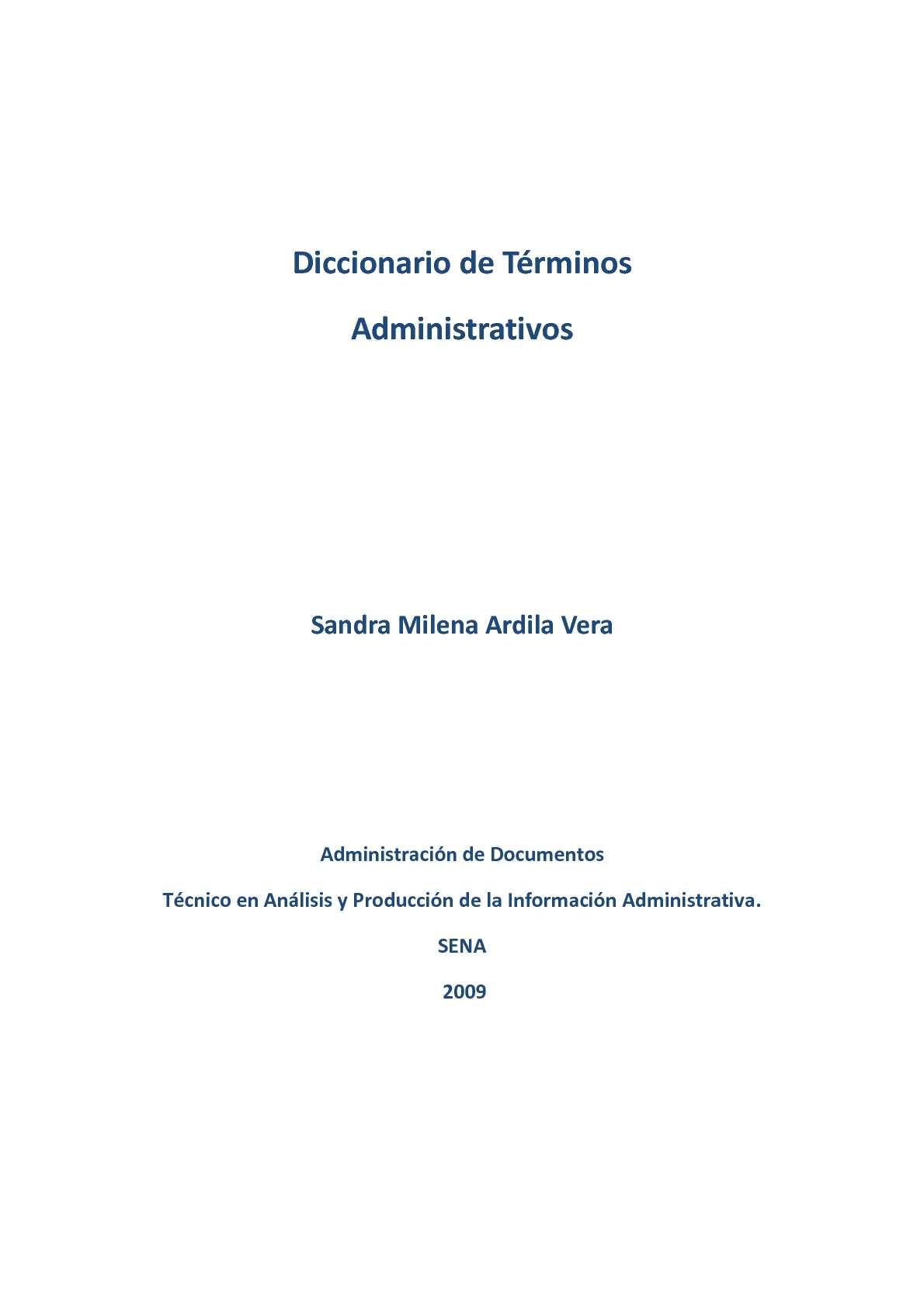 Calaméo - DICCIONARIO DE TERMINOS ADMINISTRATIVOS