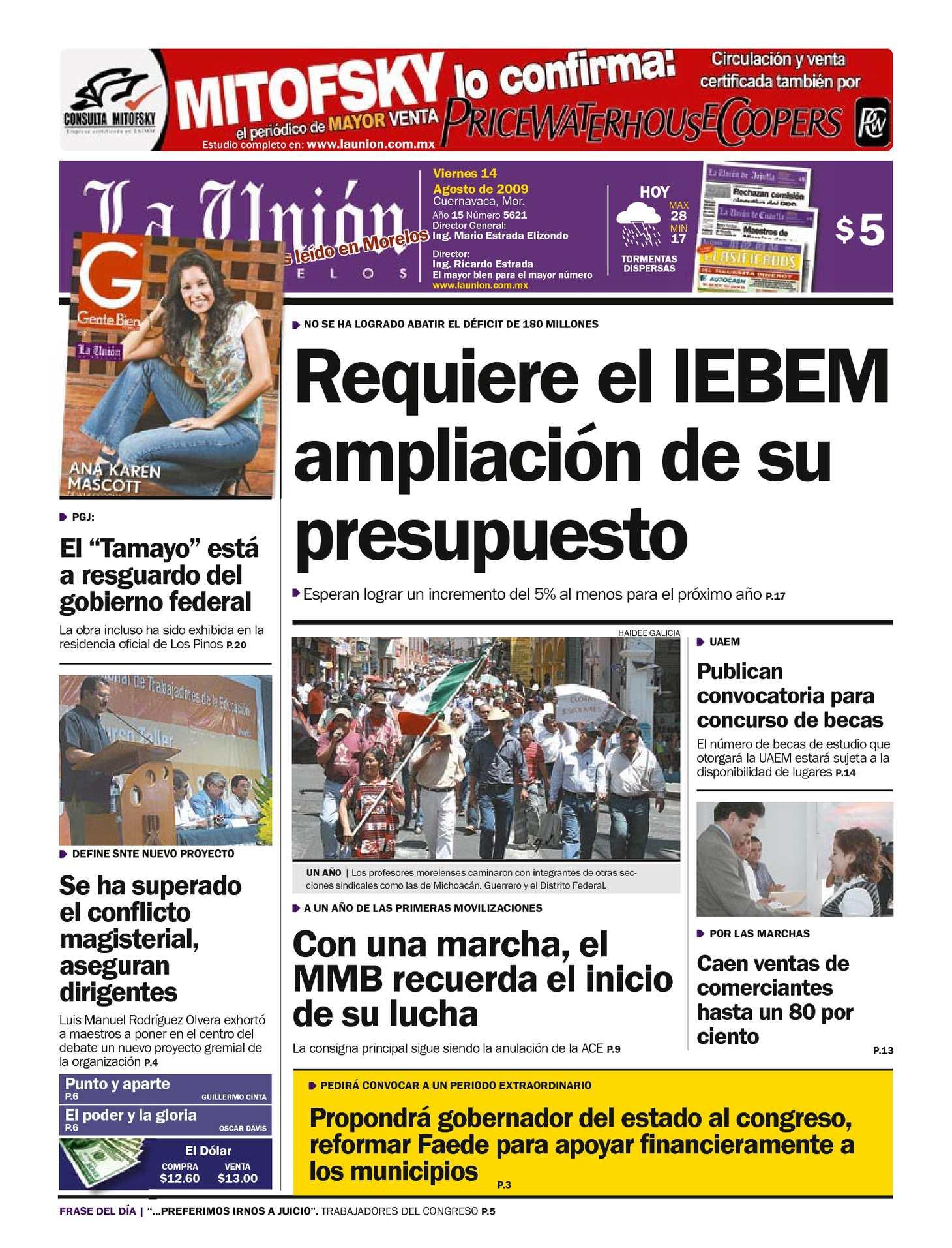 Calaméo - La Unión de Morelos 14 Agosto 2009