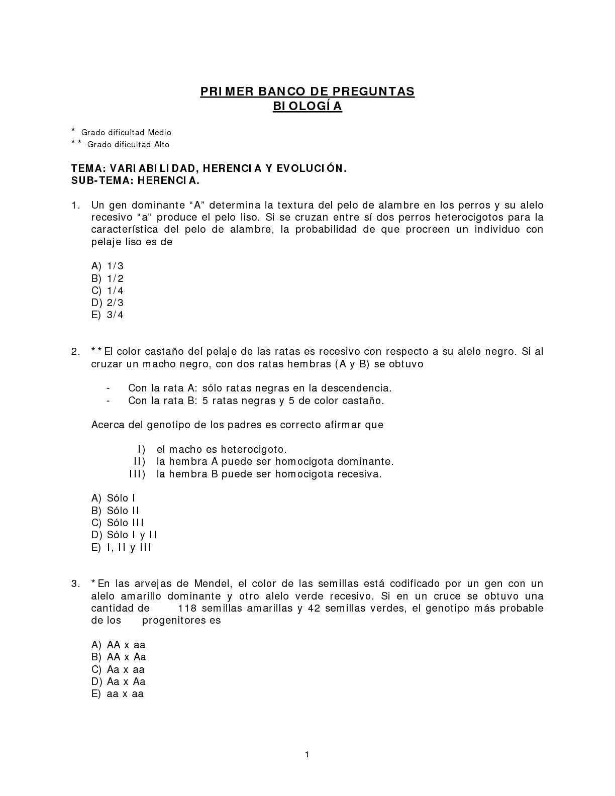 Calaméo - Modelos de Preguntas PSU Biología
