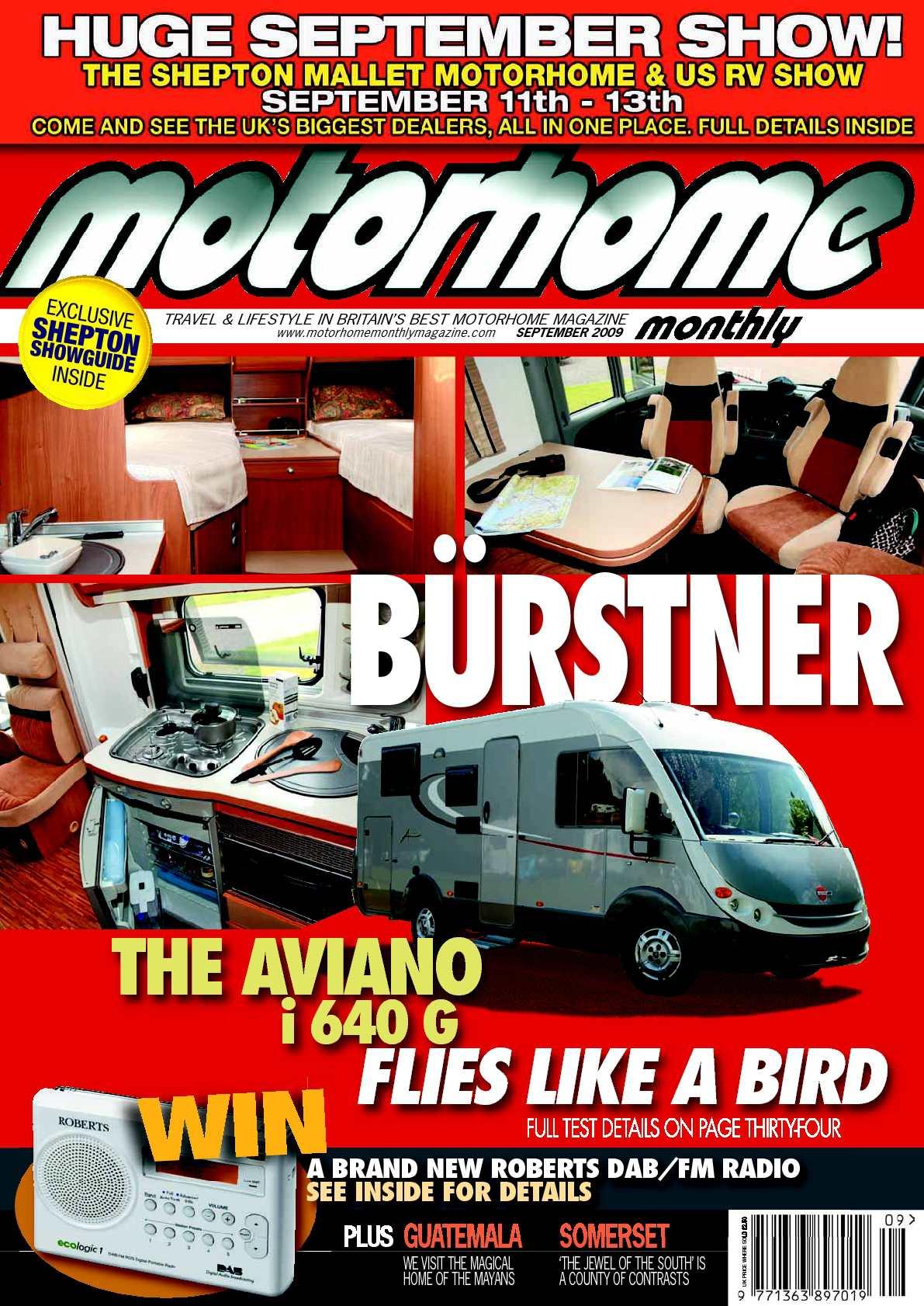 calameo september 2009 motorhome monthly magazine