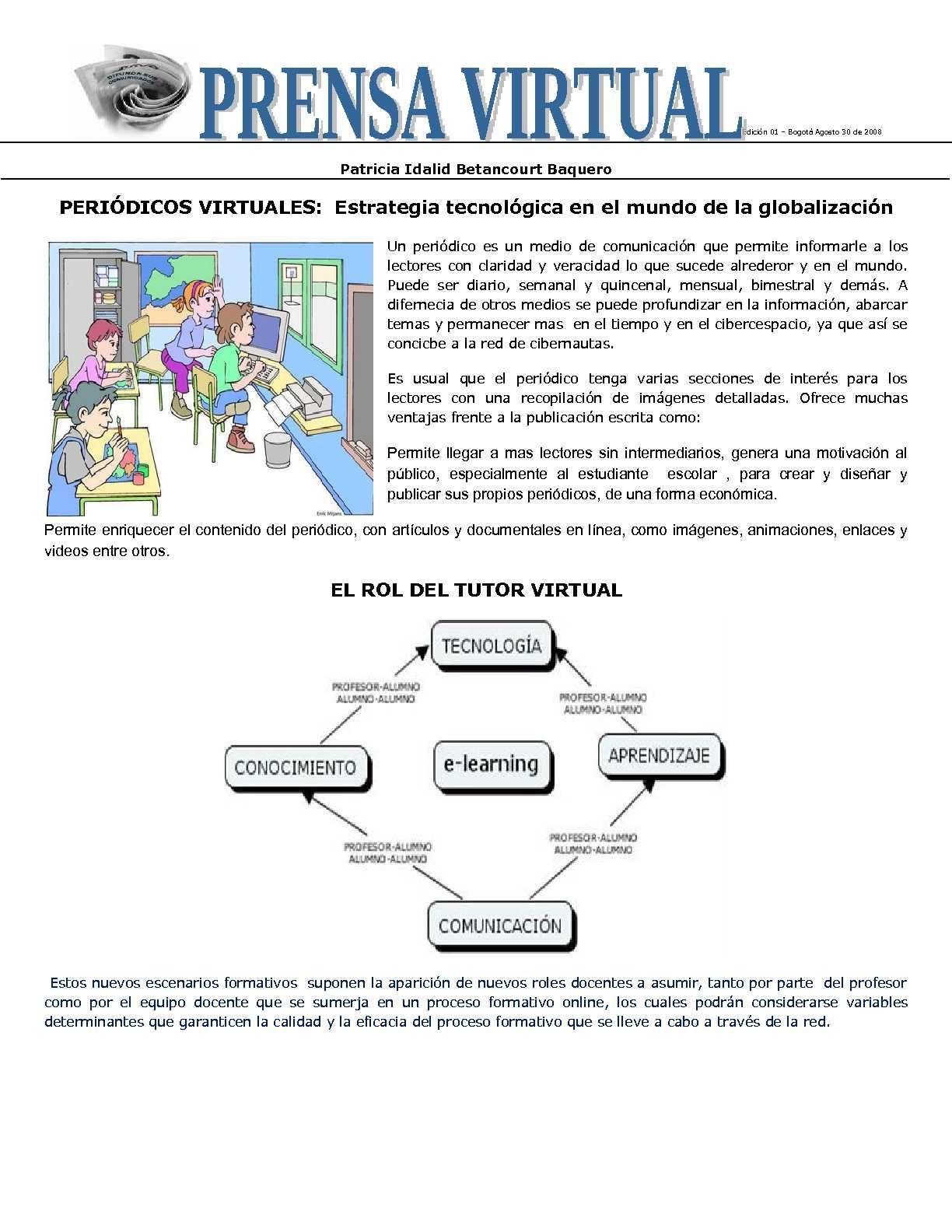 Calam o peri dico virtual for Cuales son las secciones de un periodico mural