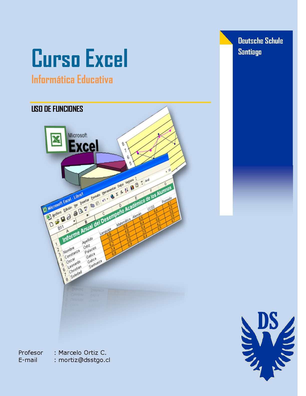 Guía Excel - Uso de Fórmulas y Funciones (parte V)