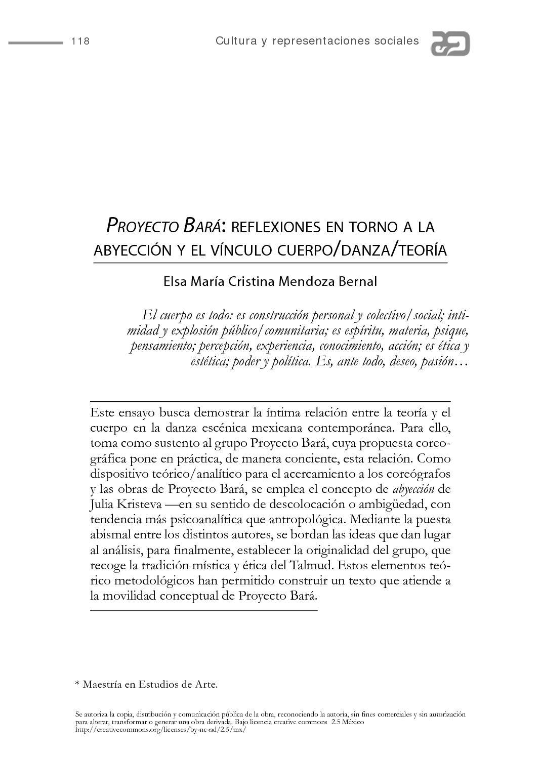 Calaméo - Proyecto Bará: reflexiones en torno a la abyección y el ...