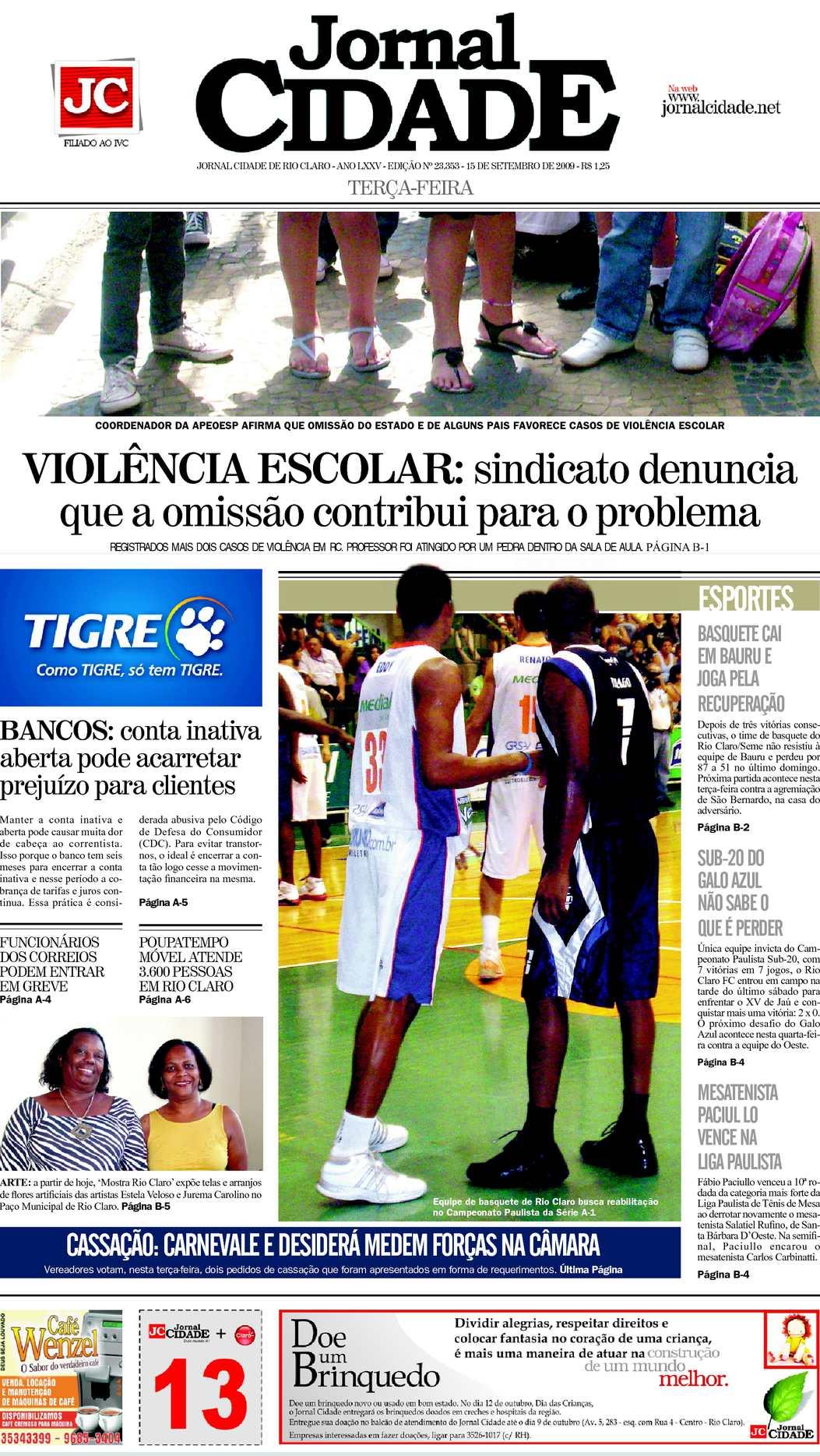 1a7015e249 Calaméo - Jornal Cidade de Rio Claro 15 09 2009
