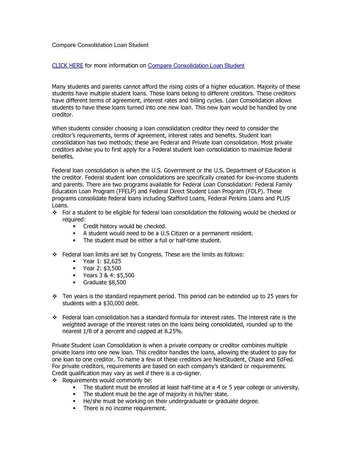 Calamo compare consolidation loan student platinumwayz