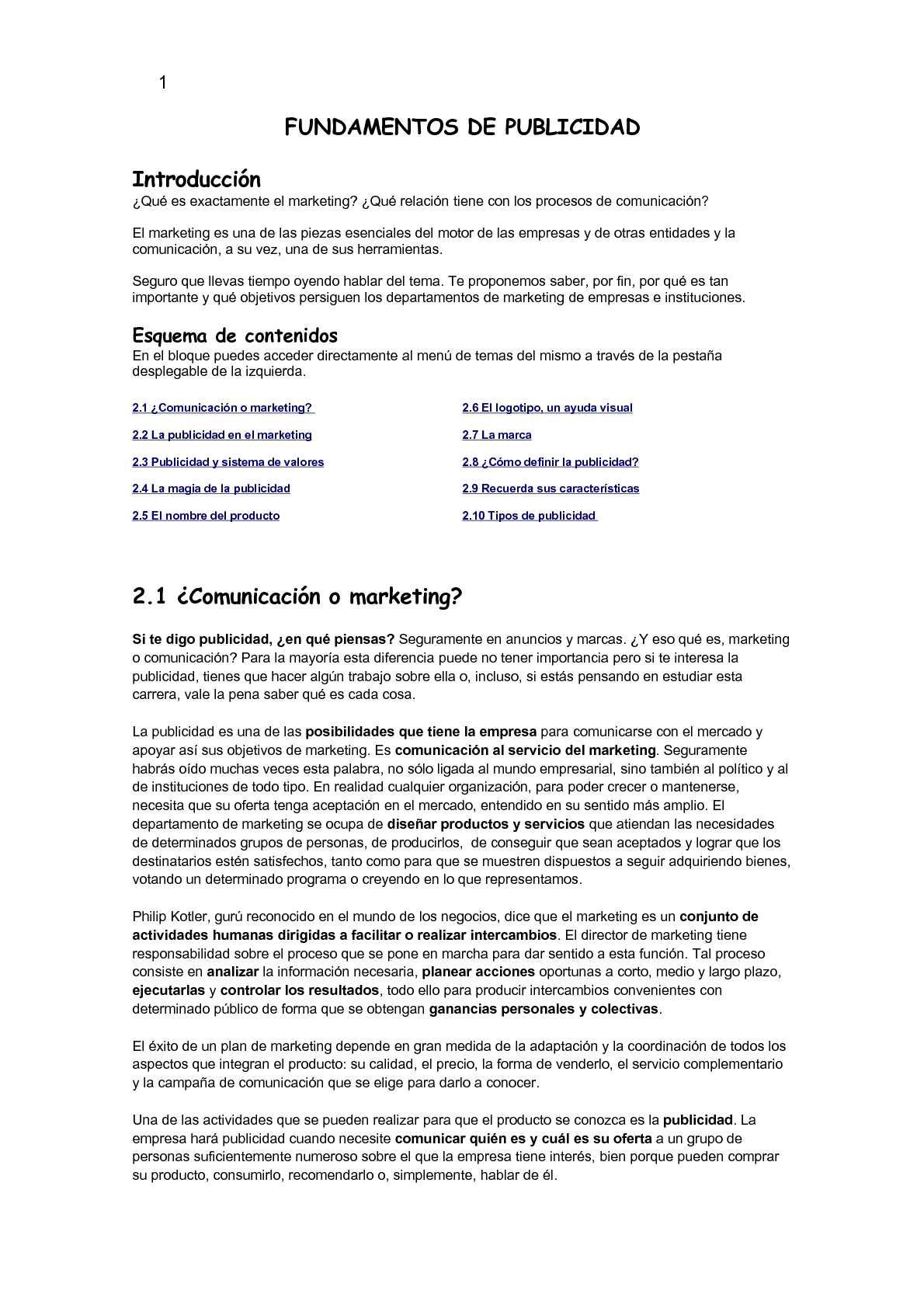 FUNDAMENTOS DE PUBLICIDAD