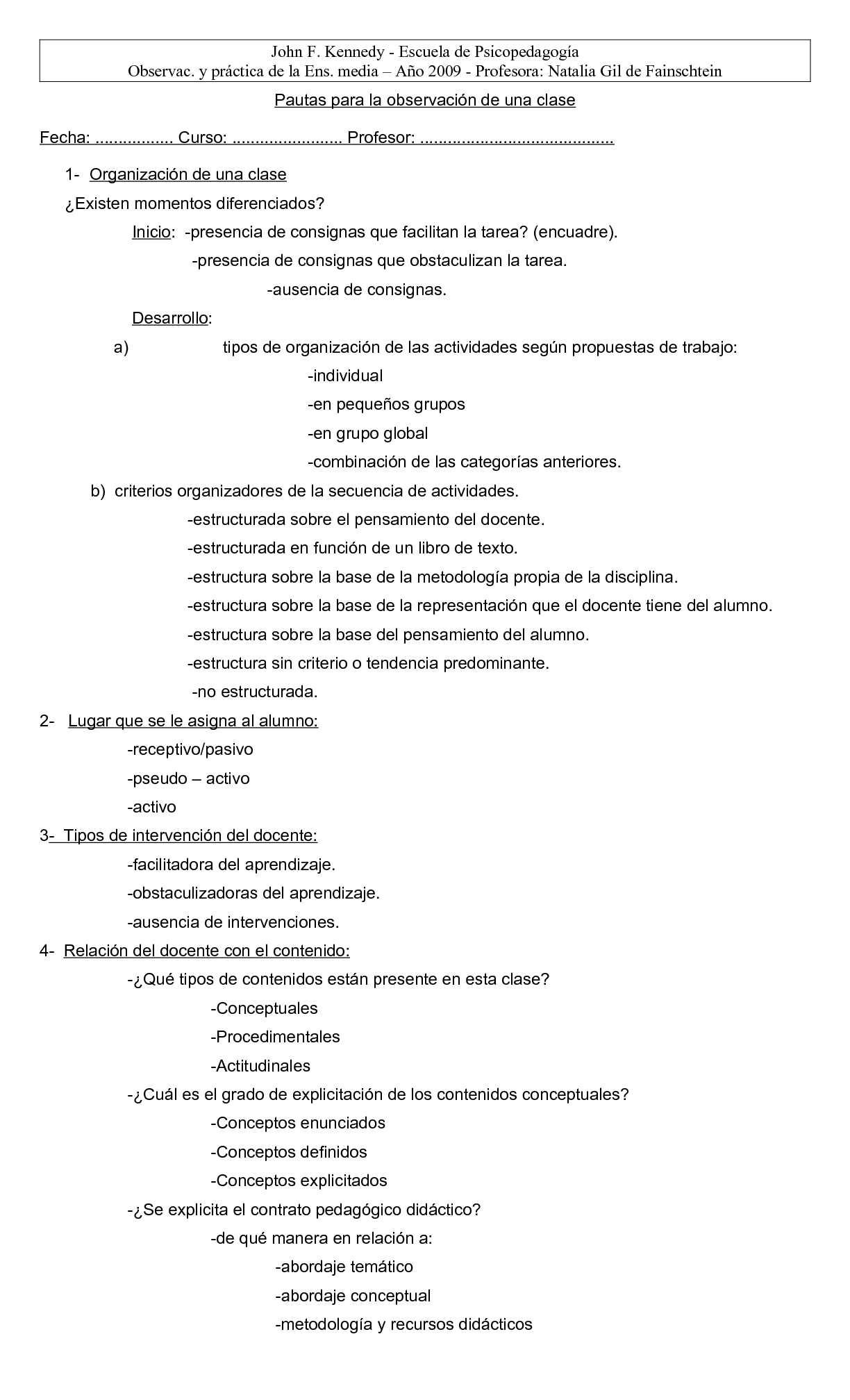 Calaméo - Pautas para la observación de una clase