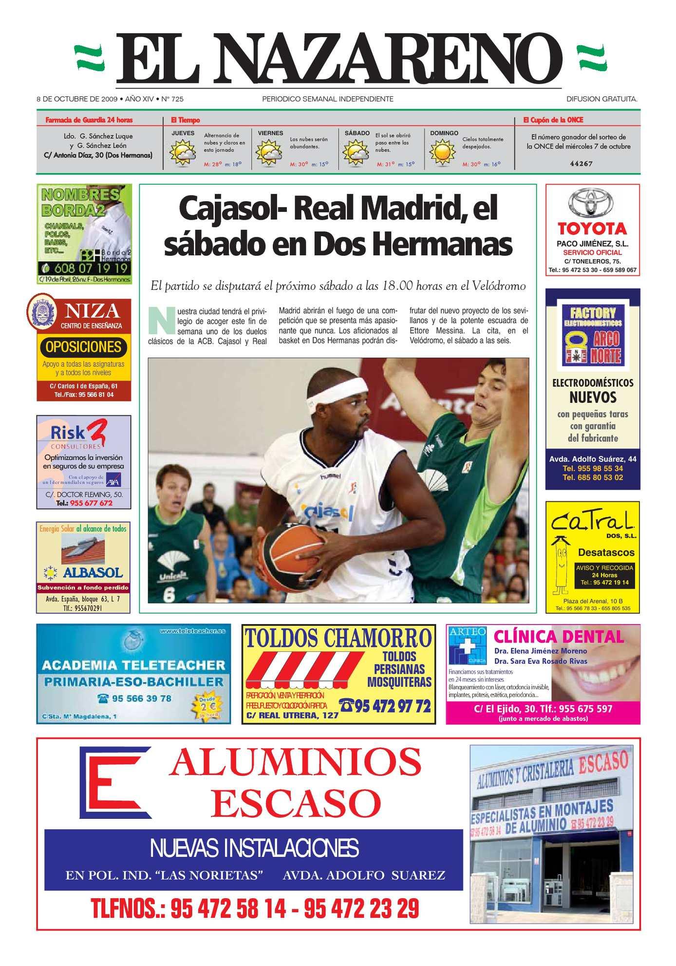 Calaméo - Periódico El Nazareno de Dos Hermanas nº 725