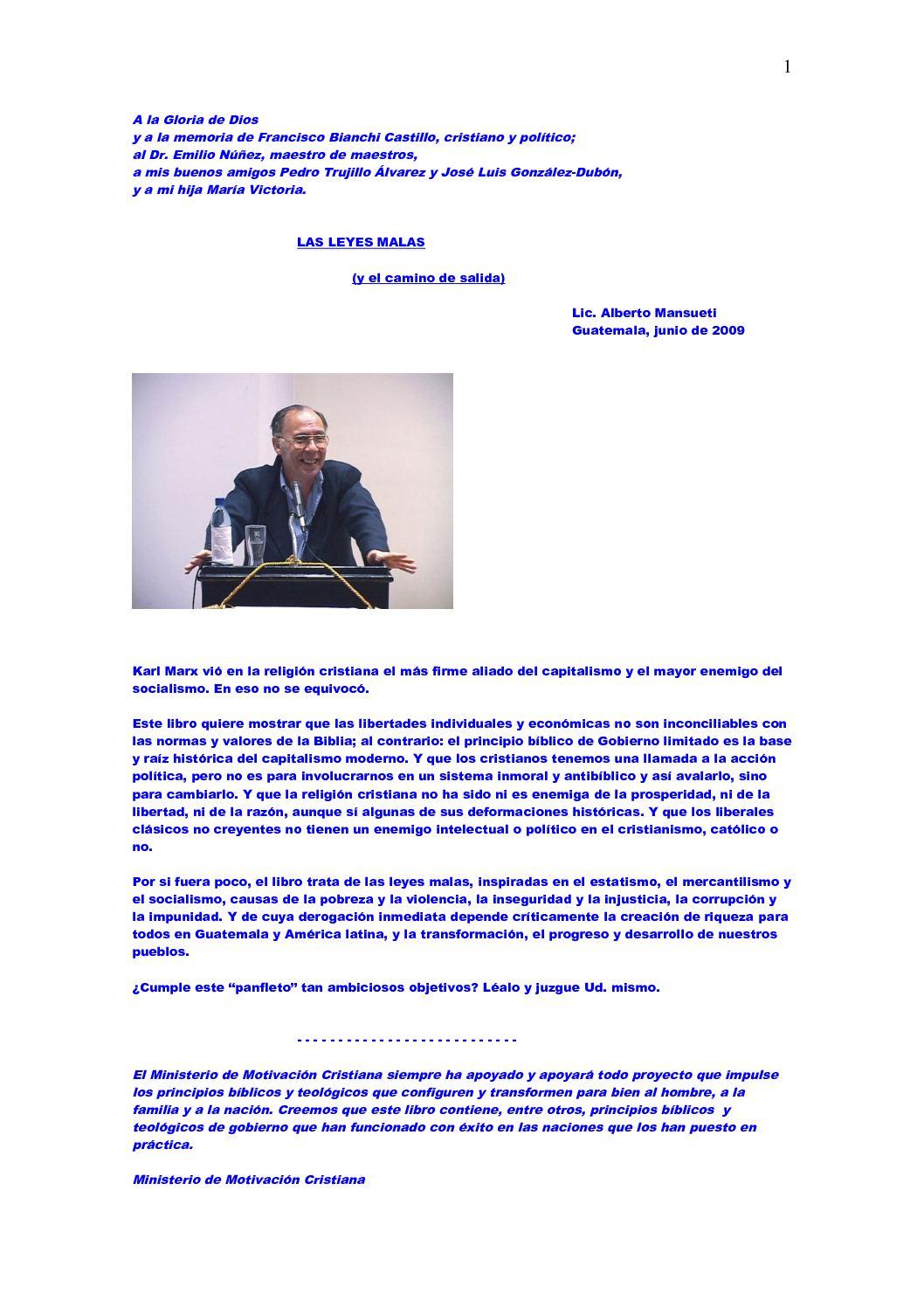 Calaméo - Las Leyes Malas y el camino de Salida por Alberto Mansueti
