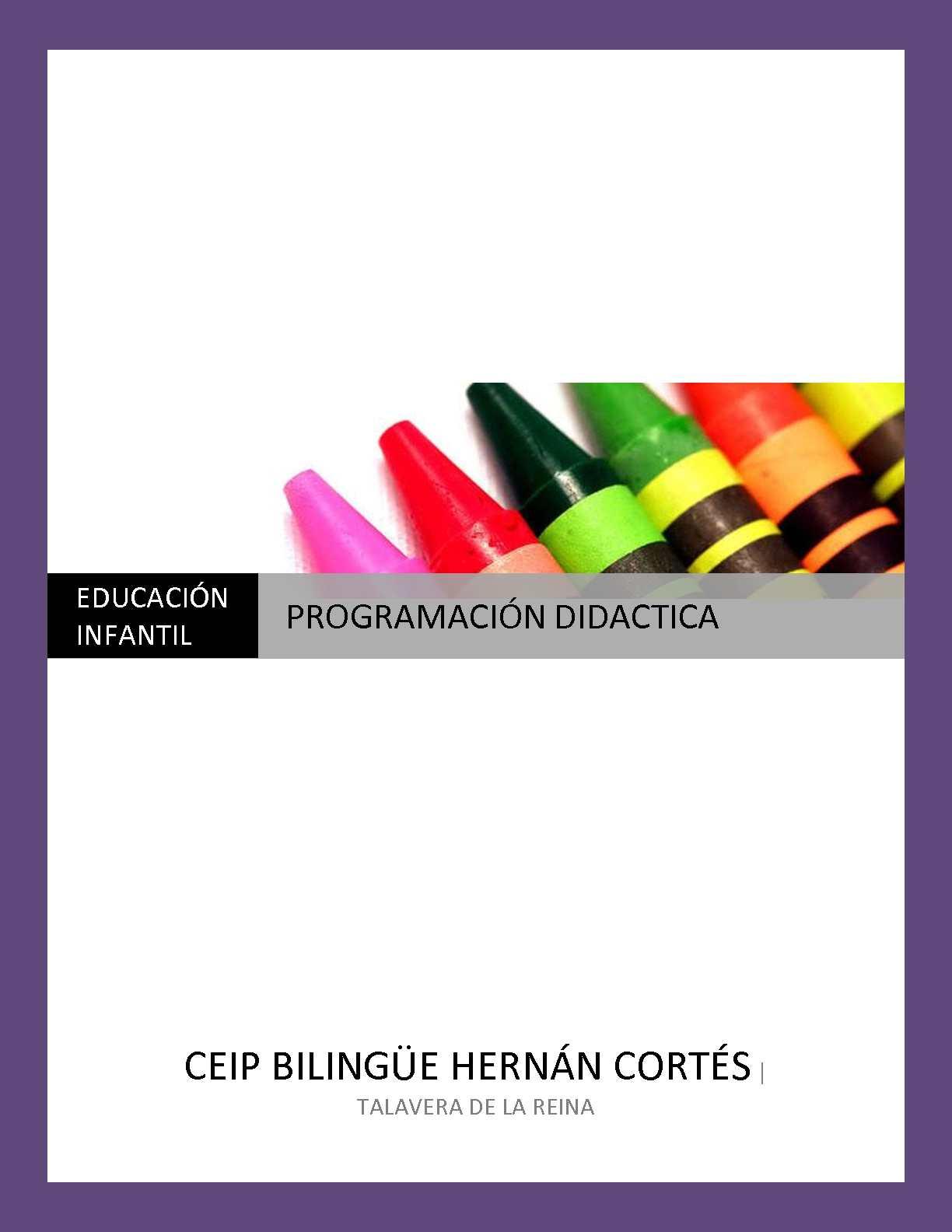 Programación Didáctica Educación Infantil
