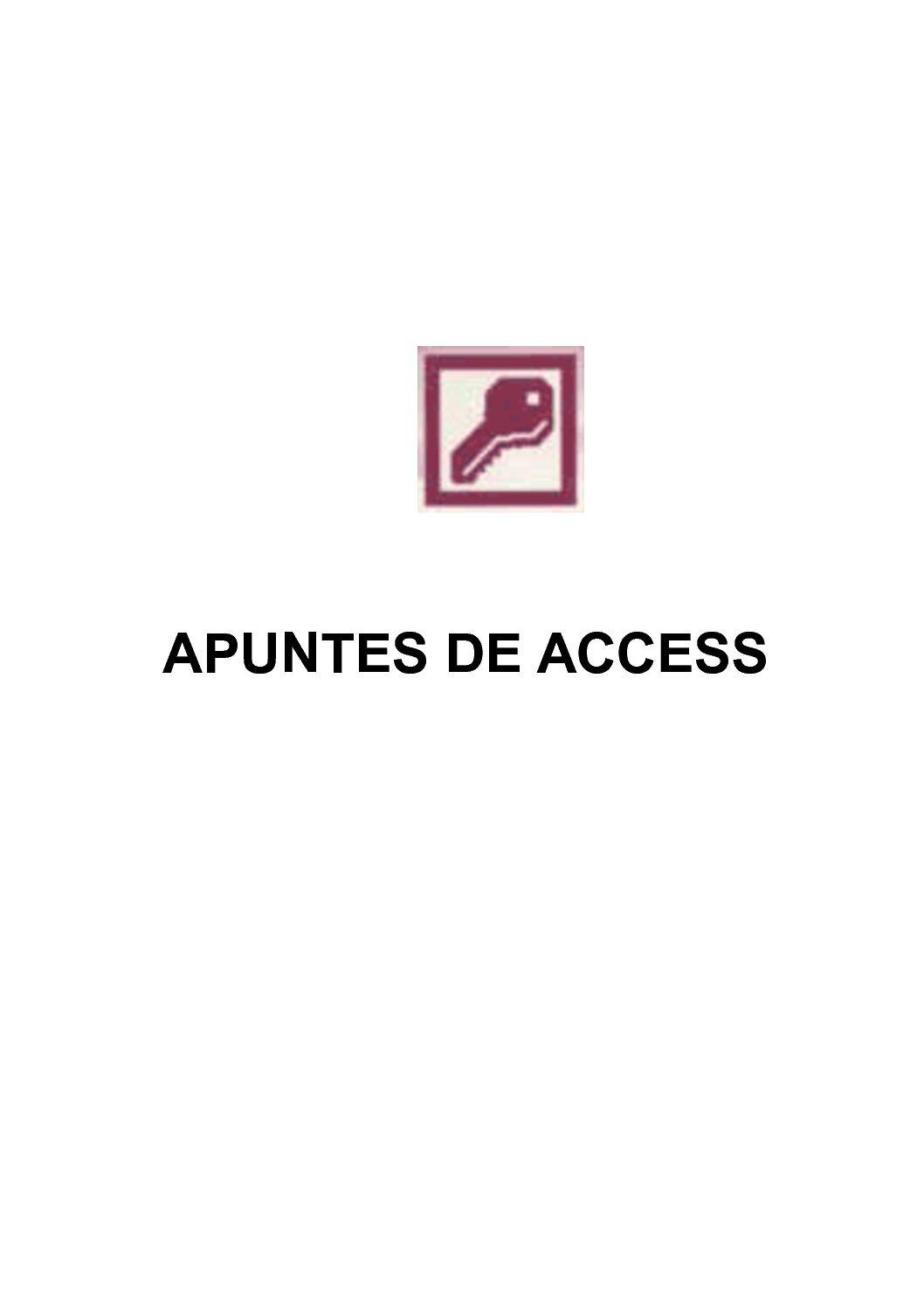 Apuntes de Access