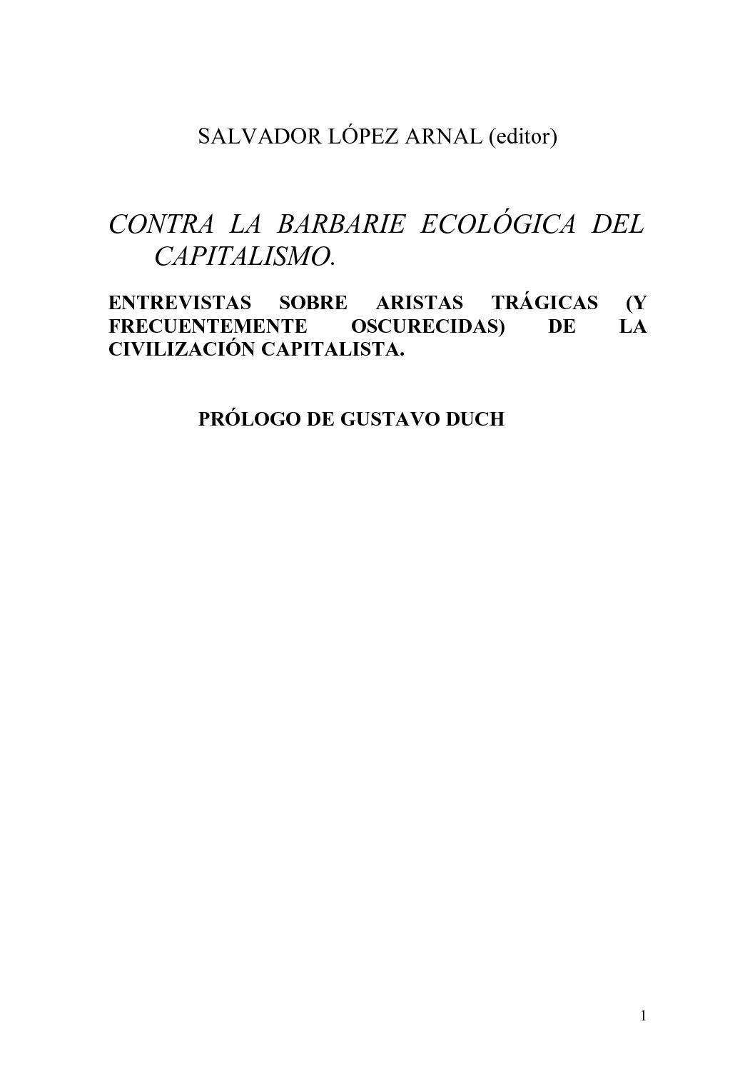 Calaméo - SALVADOR LÓPEZ ARNAL (editor). CONTRA LA BARBARIE ...