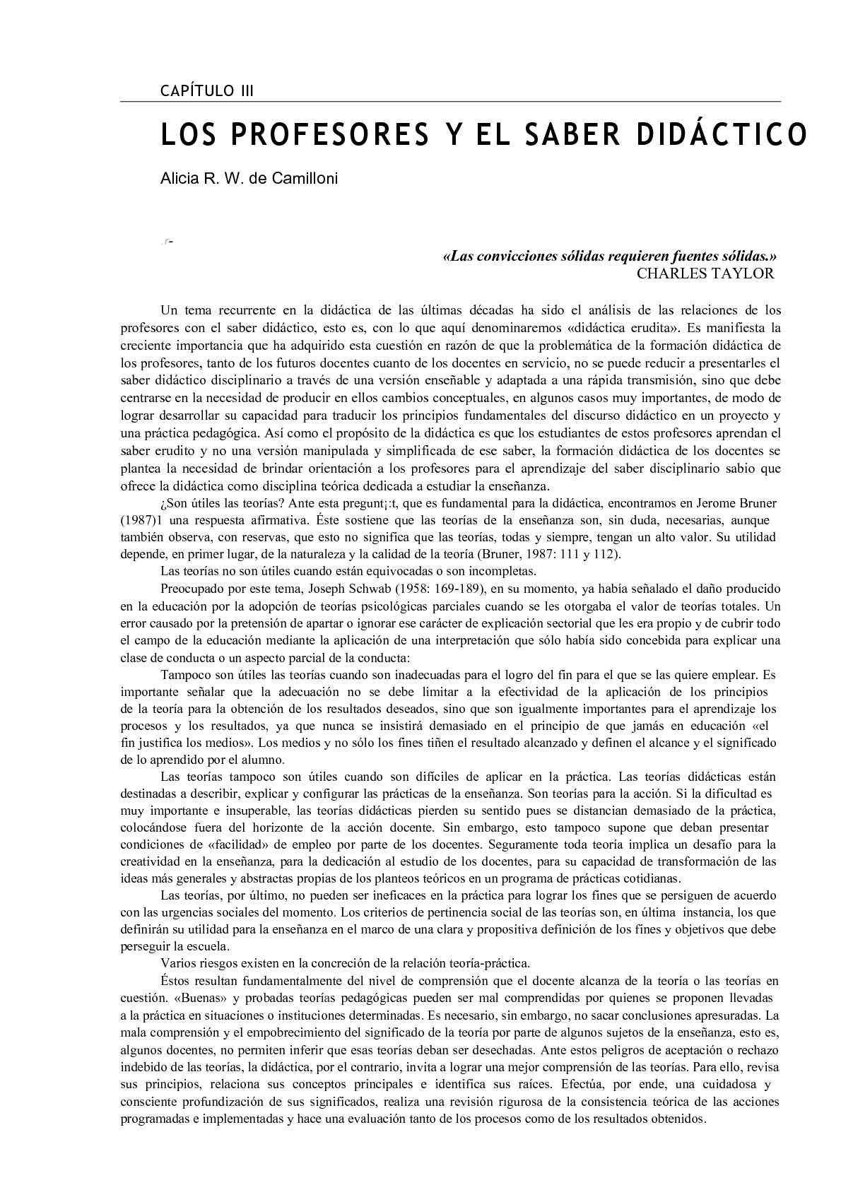 El Saber Didáctico - Cap. III