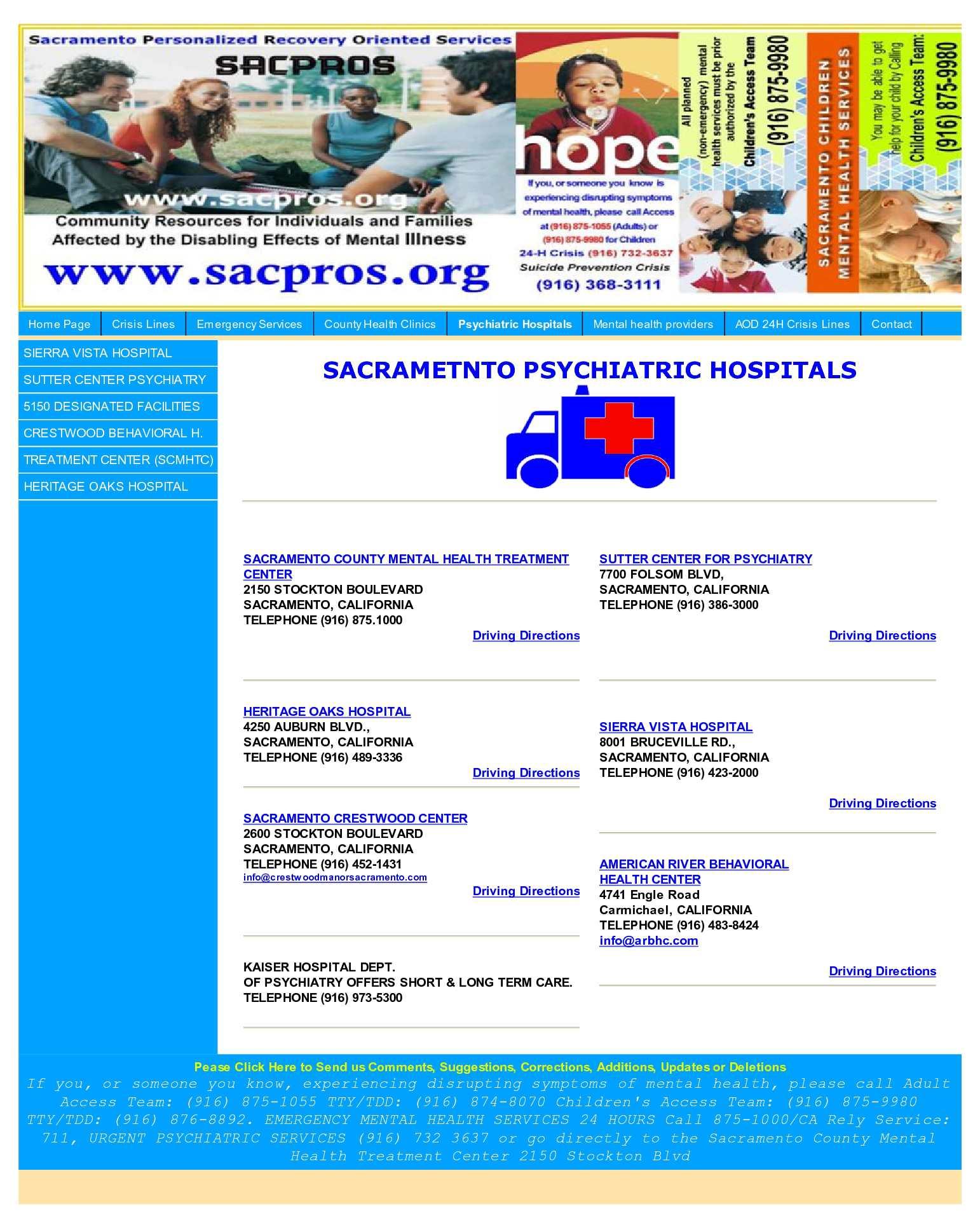 Calameo Sacramento County Psychiatric Hospitals