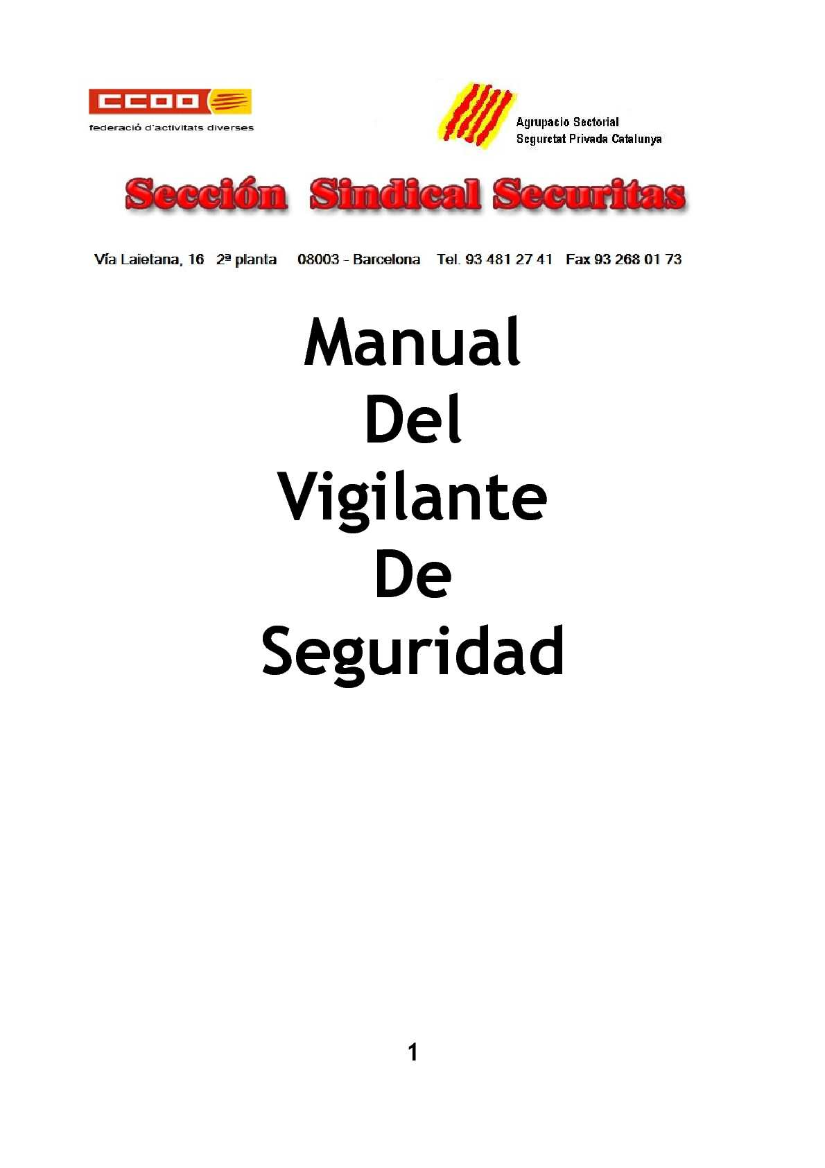 Manual del Vigilante de Seguridad