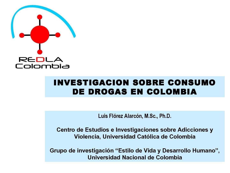 Calaméo - Investigacion sobre consumo de drogas en Colombia